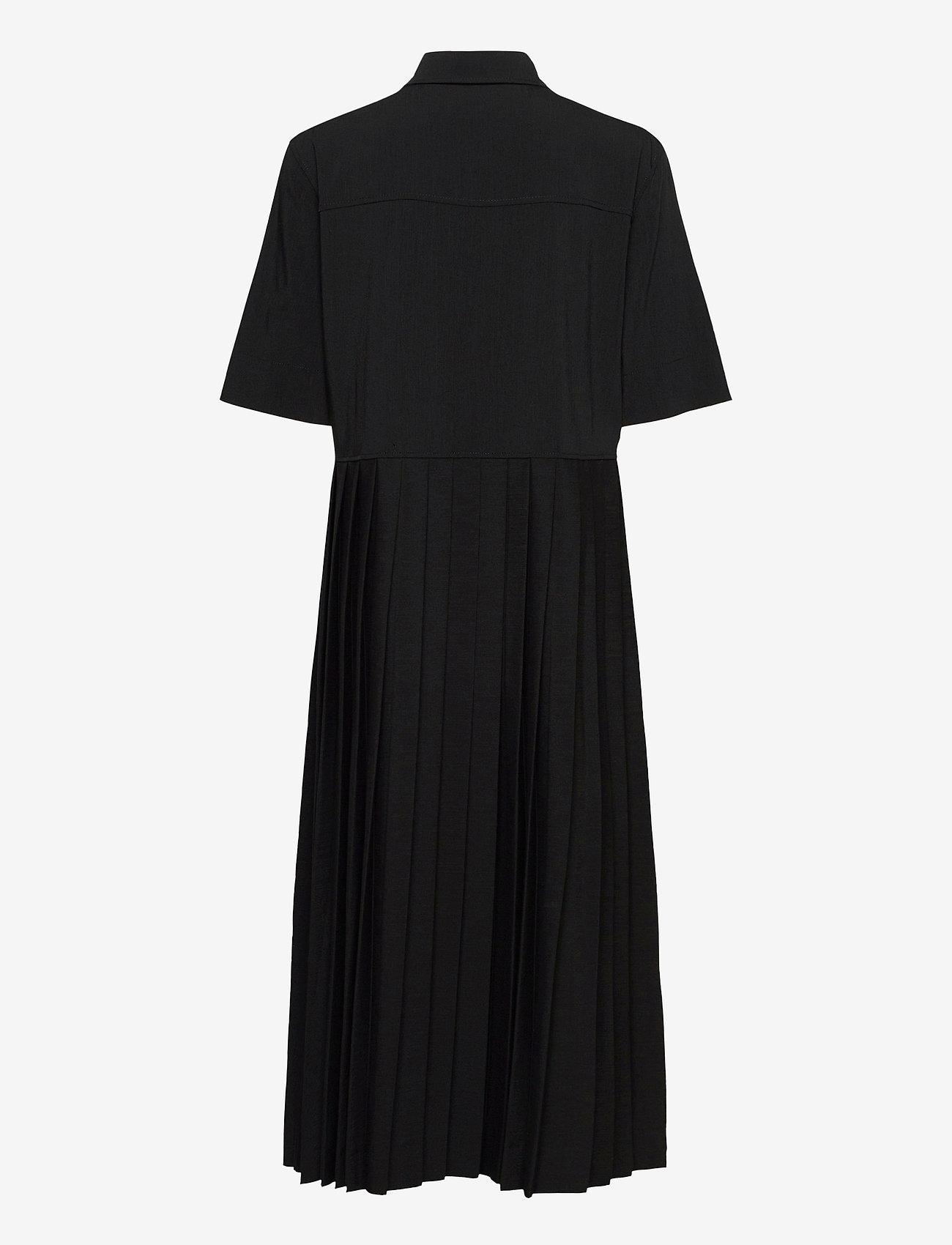 Ganni - Melange Suiting - hverdagskjoler - black - 2