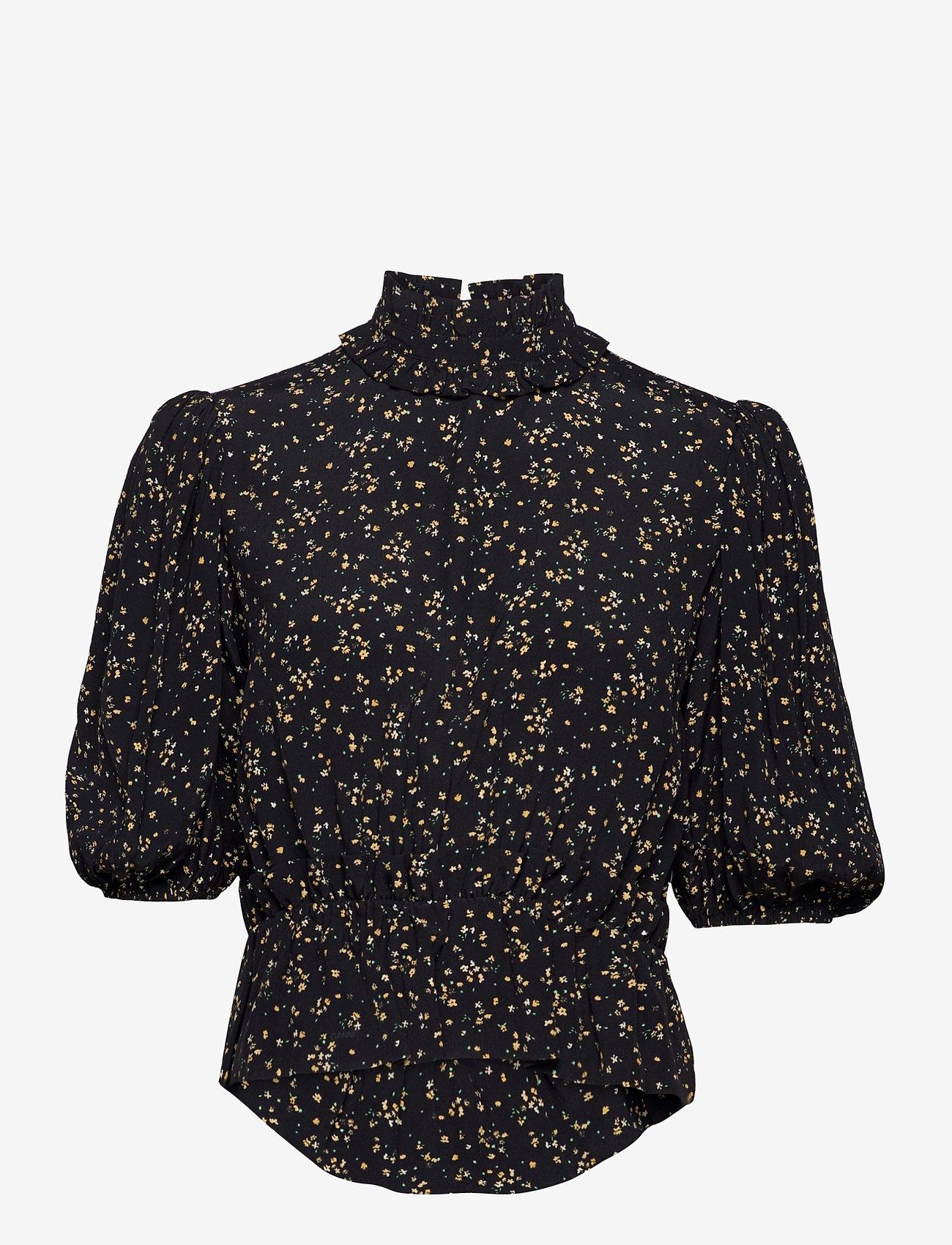 Ganni - Blouse - long sleeved blouses - black - 0