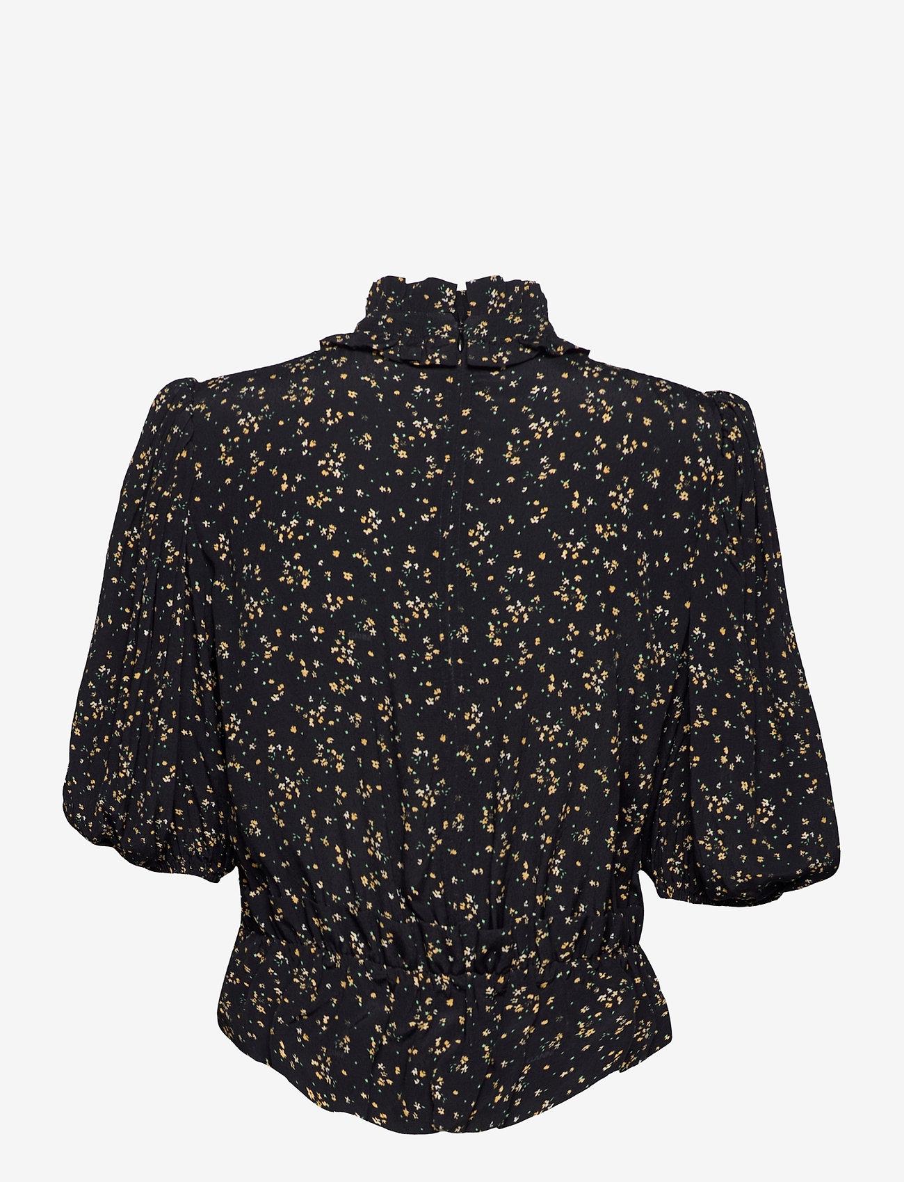 Ganni - Blouse - long sleeved blouses - black - 1