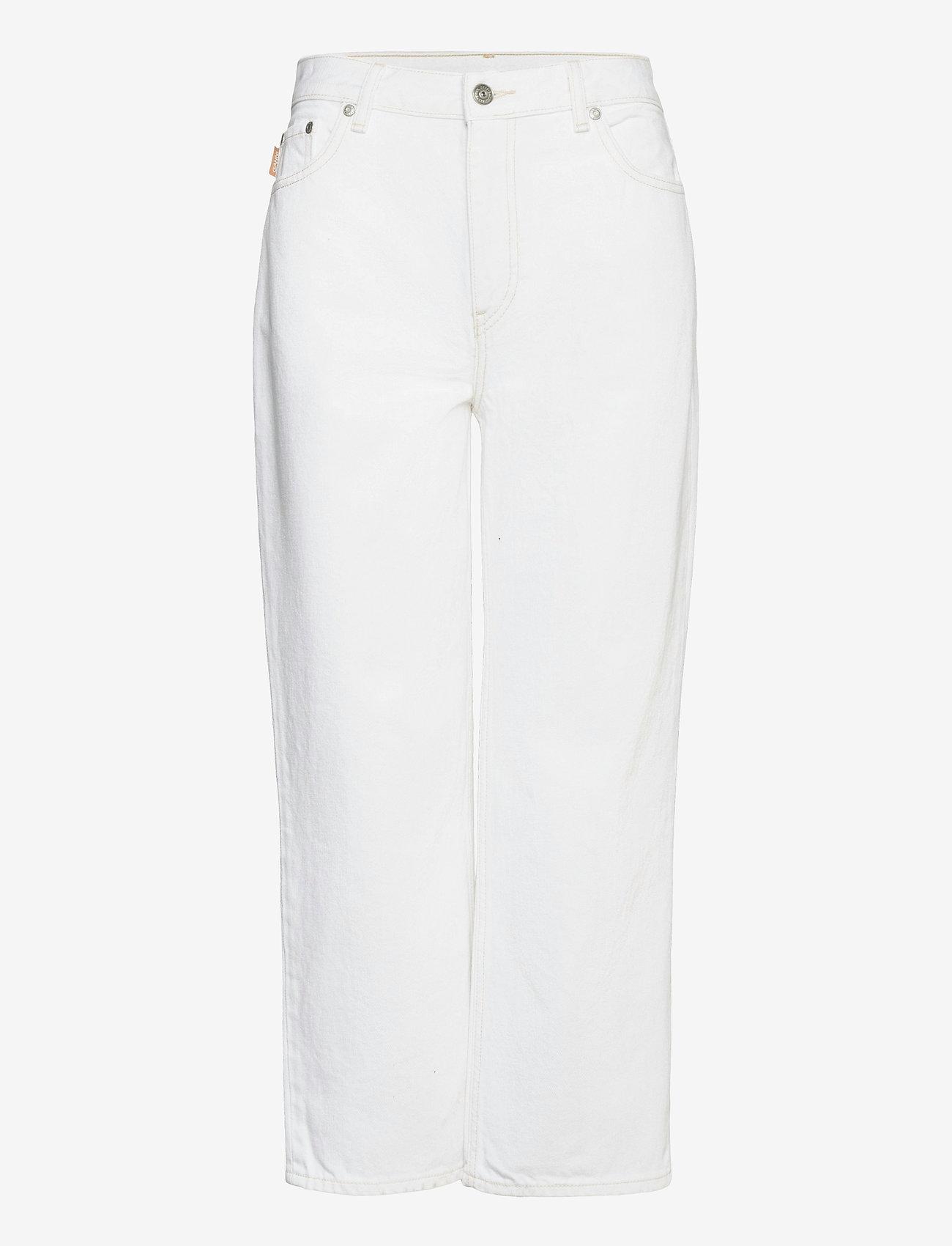 Ganni - Classic Denim - brede jeans - bright white - 0