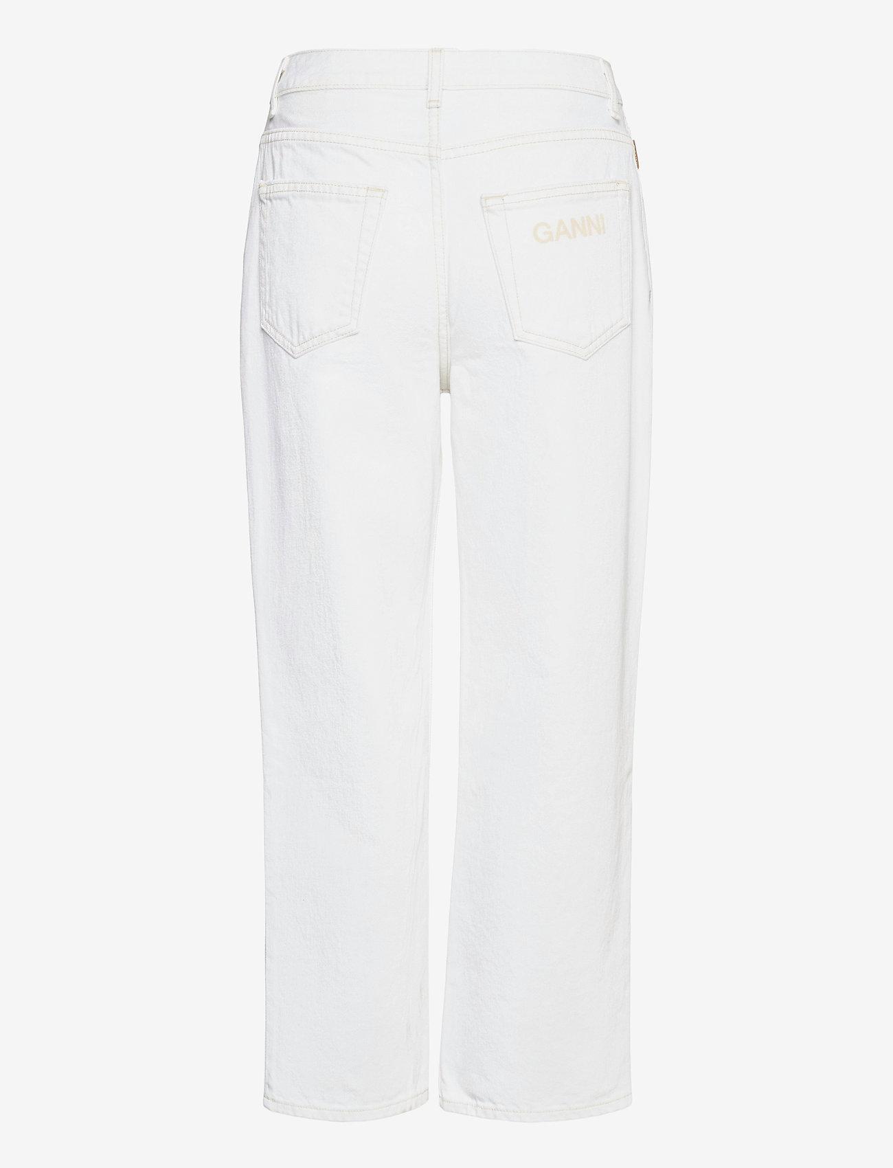 Ganni - Classic Denim - brede jeans - bright white - 1
