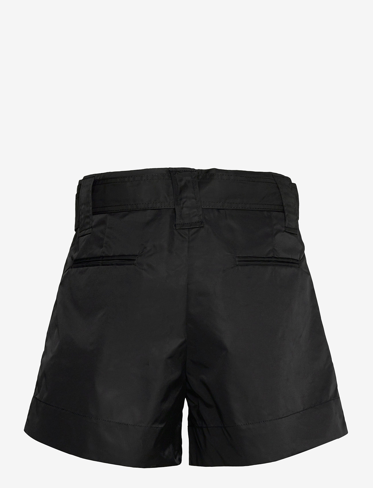 Ganni - Outerwear Nylon - paper bag shorts - black - 1