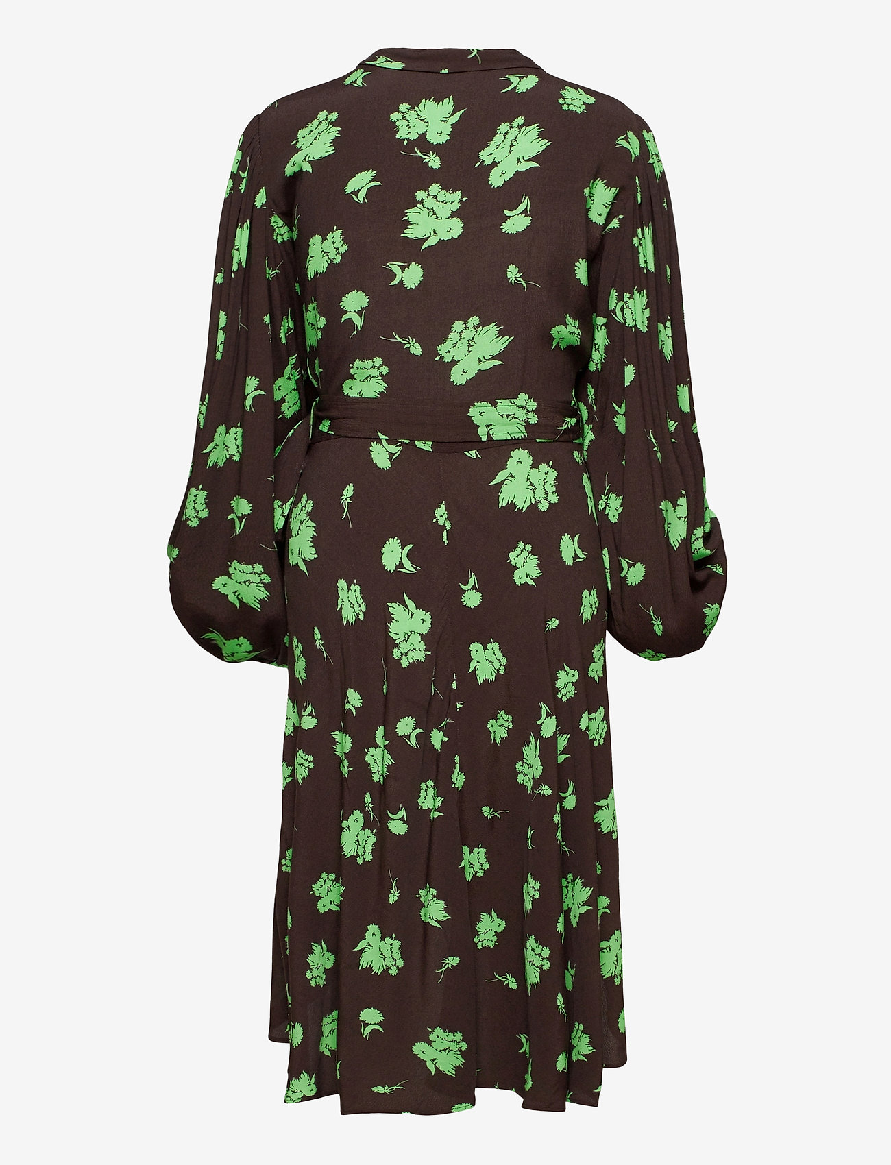 Ganni - Printed Crepe - everyday dresses - mole - 1