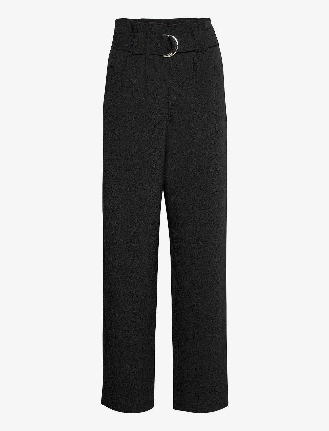 Ganni - Heavy Crepe - bukser med brede ben - black - 0