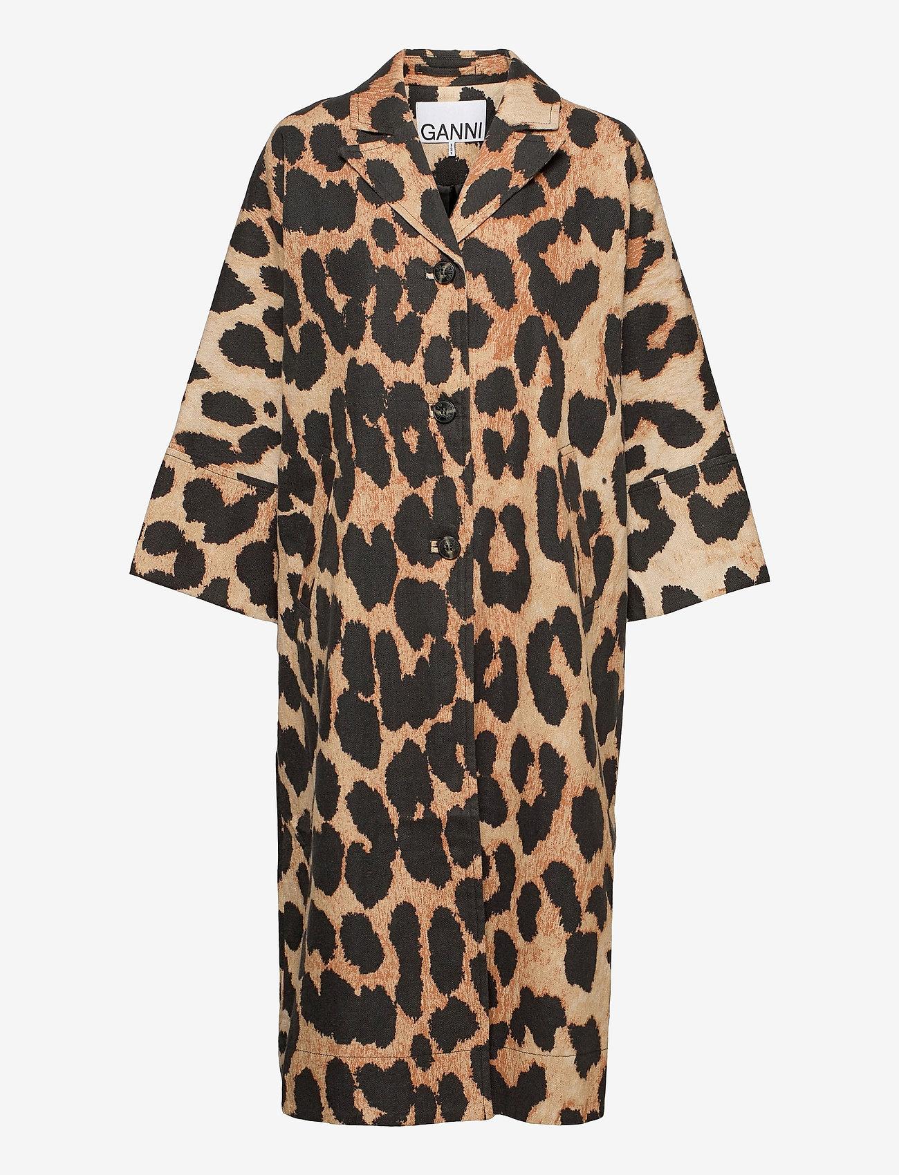 Ganni - Linen Canvas - maxi leopard - 0