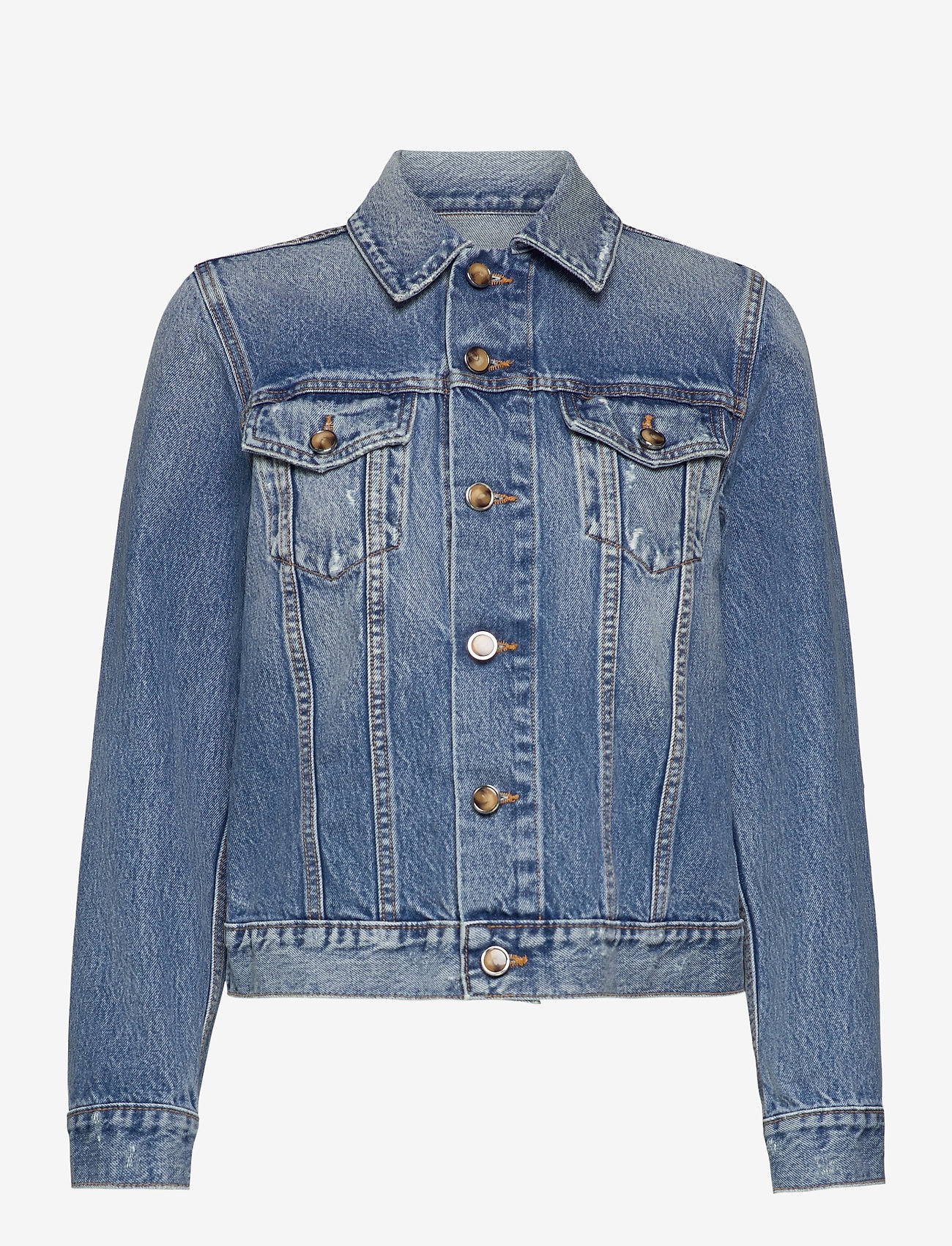 Ganni - Overwashed Denim - denimjakker - denim - 1