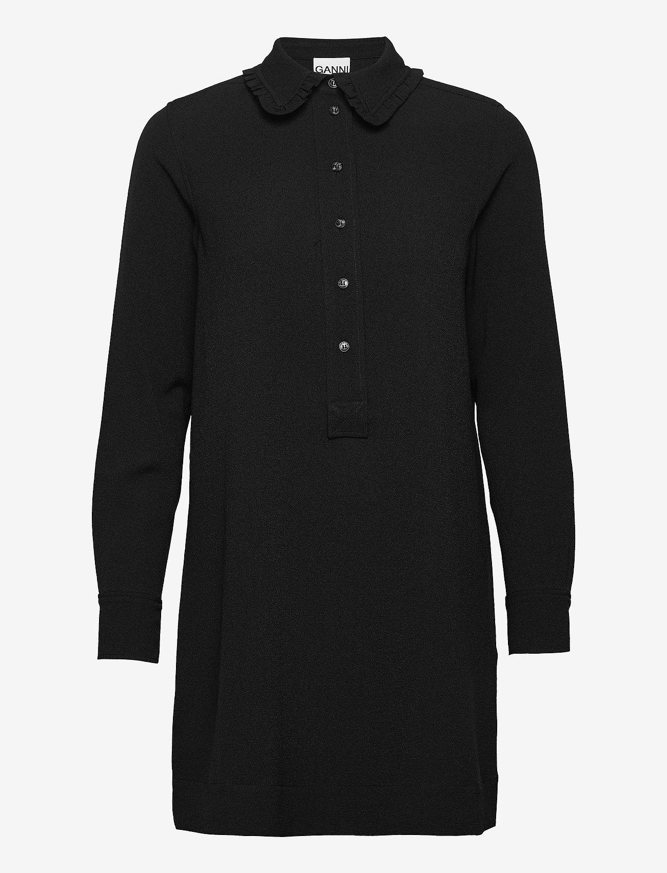 Ganni - Mini Dress - hverdagskjoler - black - 0