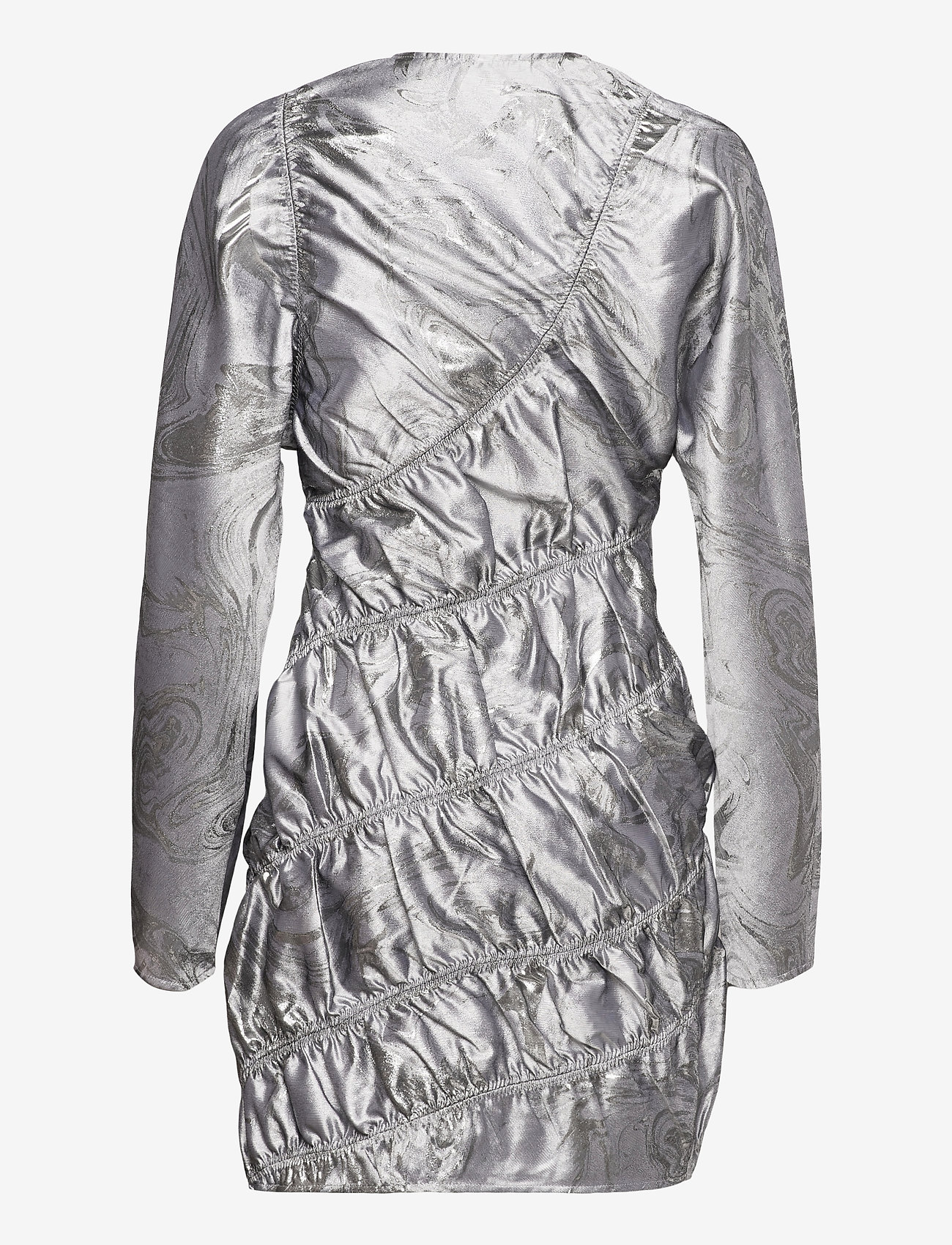 Ganni - Shiny Jacquard - bodycon dresses - sharkskin - 1