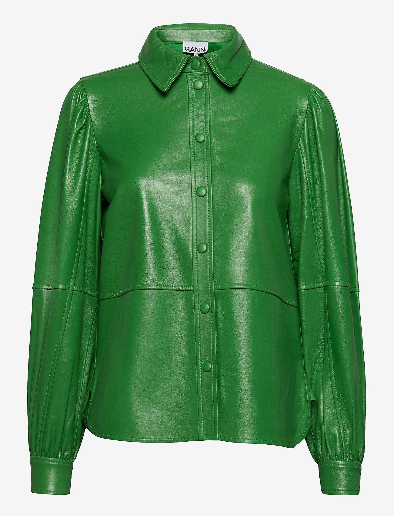 Ganni - Shirt - langermede skjorter - kelly green - 0
