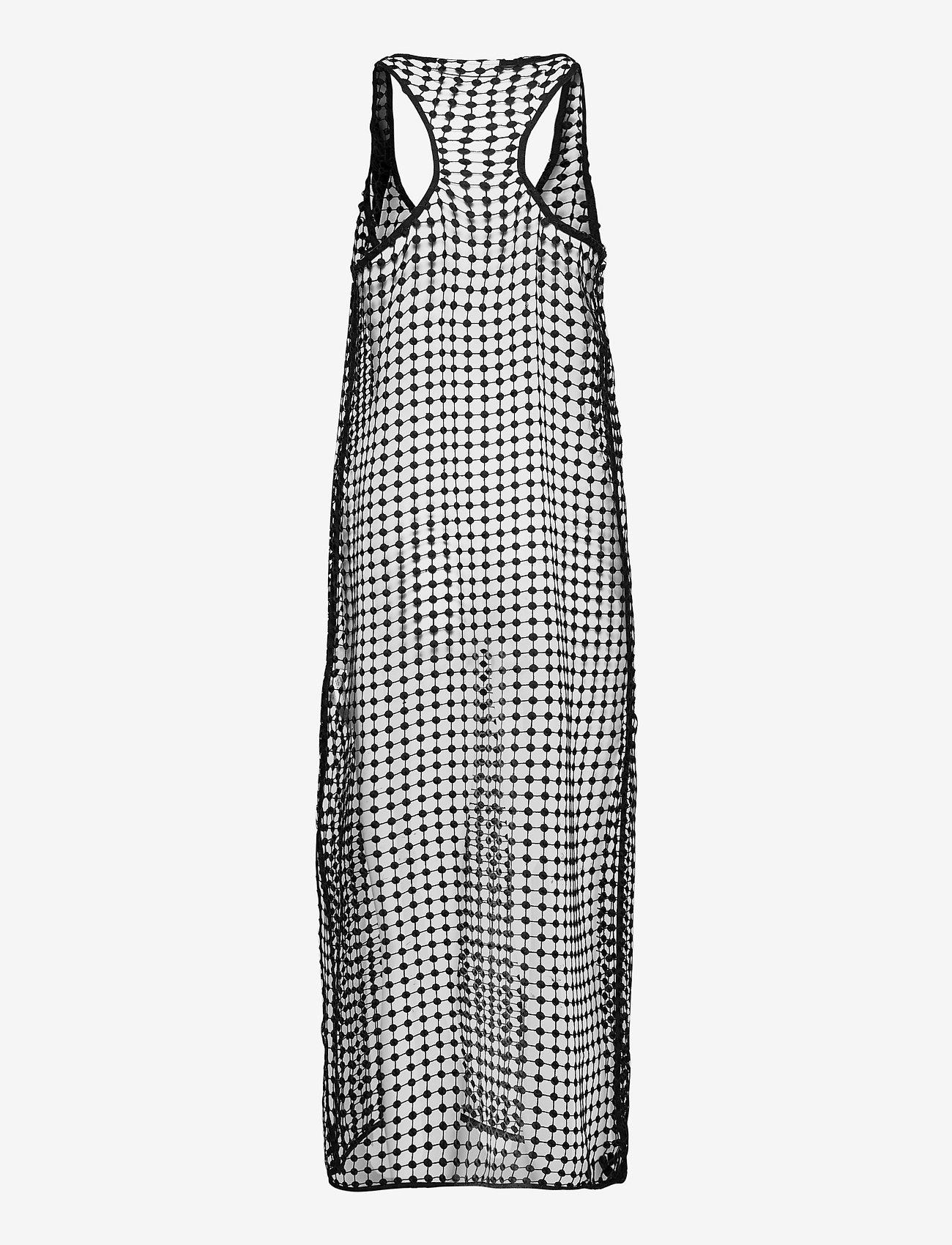 Ganni - Grid Lace - sommerkjoler - black - 1