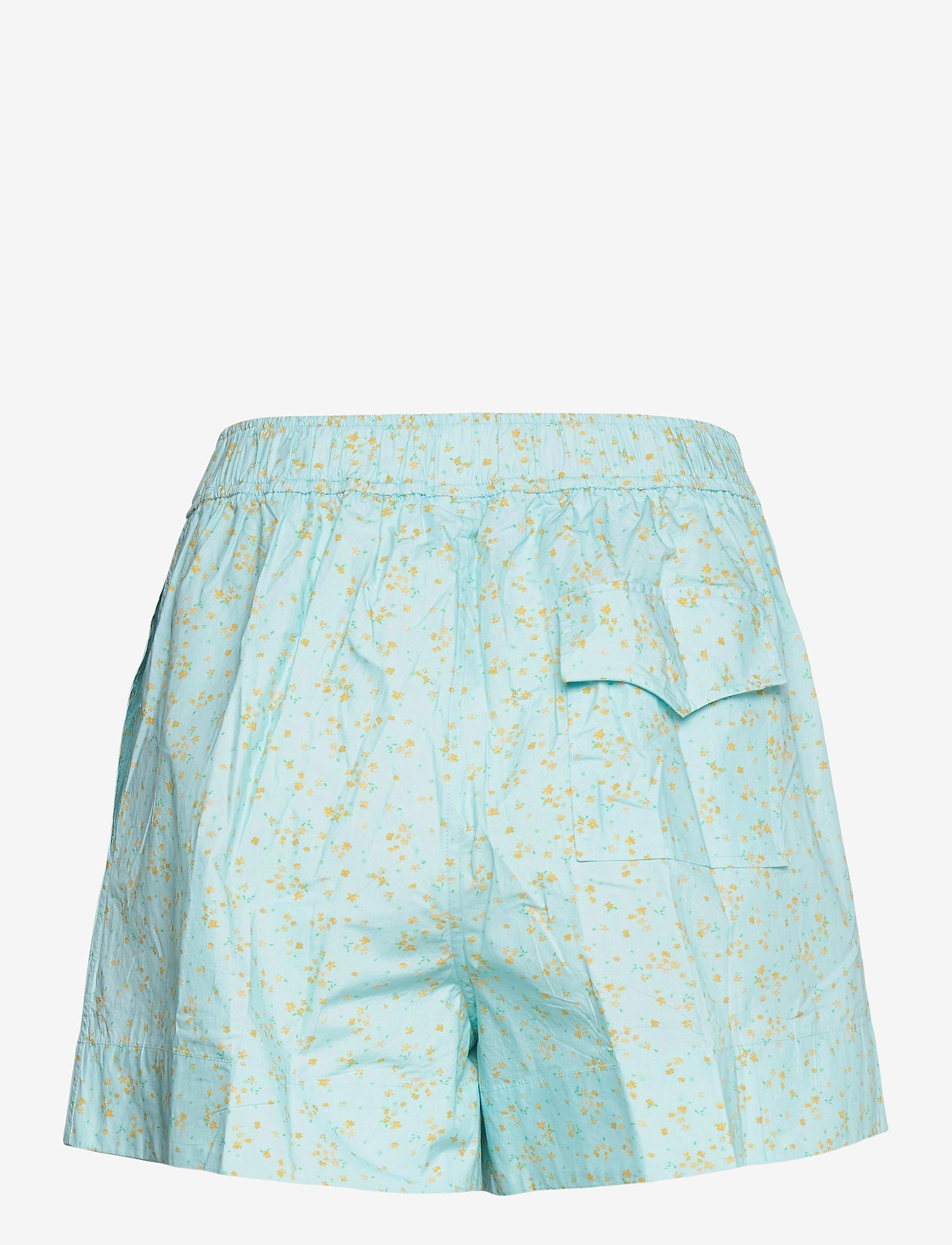 Ganni - Printed Cotton Poplin - shorts casual - corydalis blue - 1