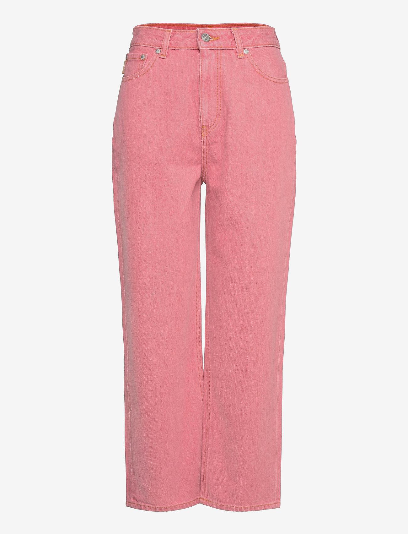 Ganni - Yarndyed Denim - straight jeans - pink nectar - 0