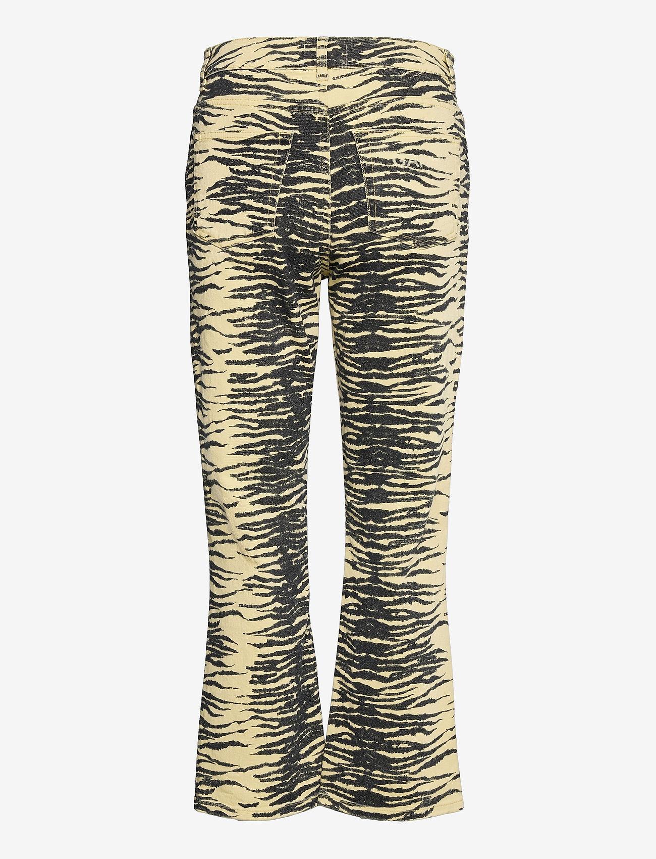 Ganni - Print Denim - boot cut jeans - pale banana - 1
