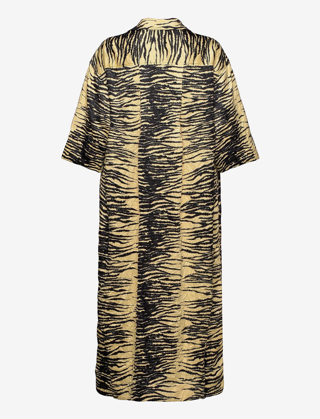 Ganni - Crinkled Satin - summer dresses - pale banana - 1