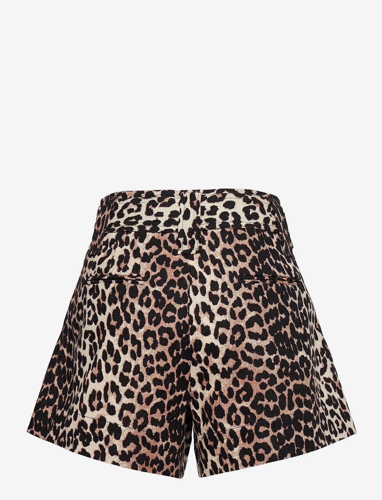 Ganni - Linen Canvas - casual shorts - leopard - 1
