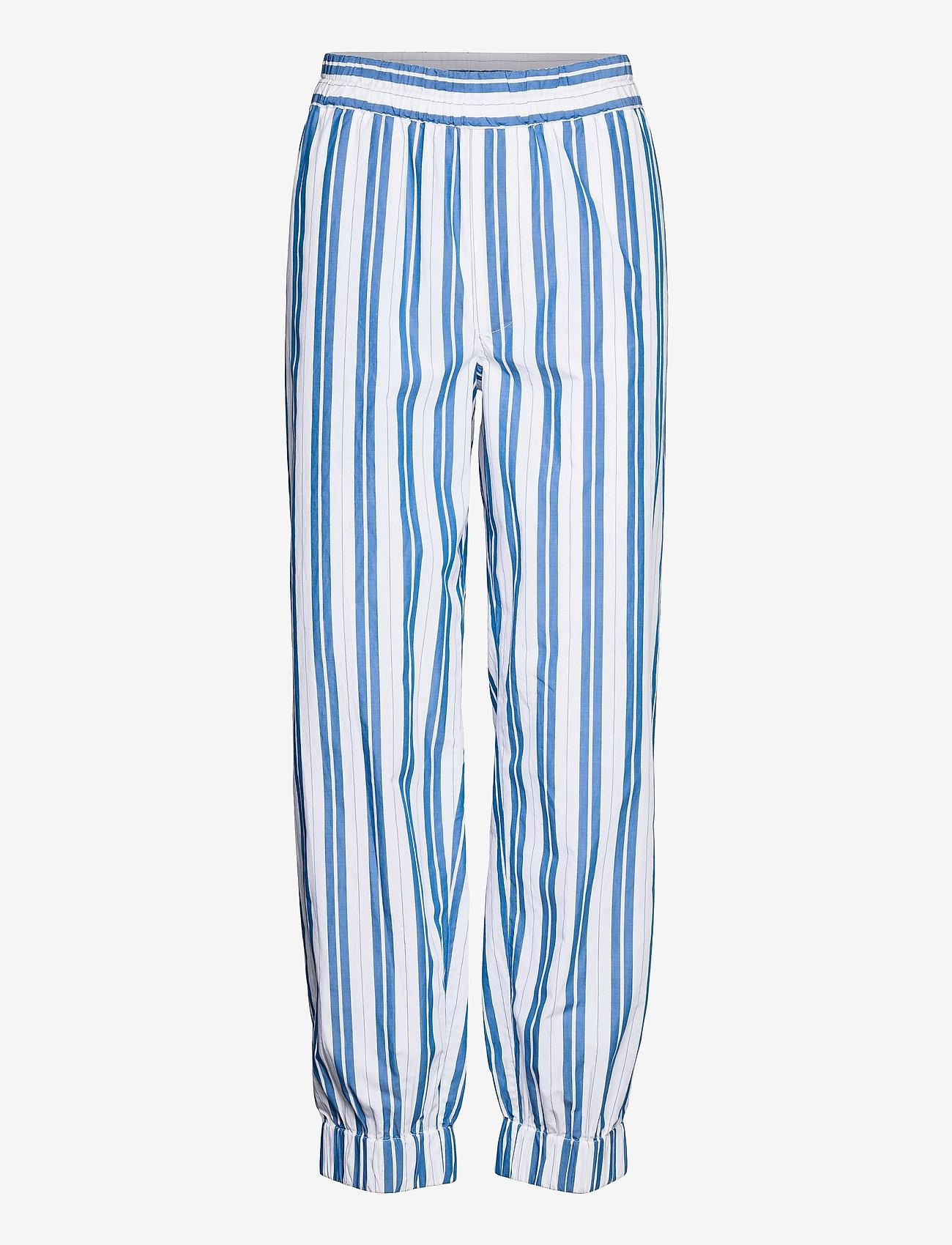 Ganni - Stripe Cotton - casual trousers - daphne - 0