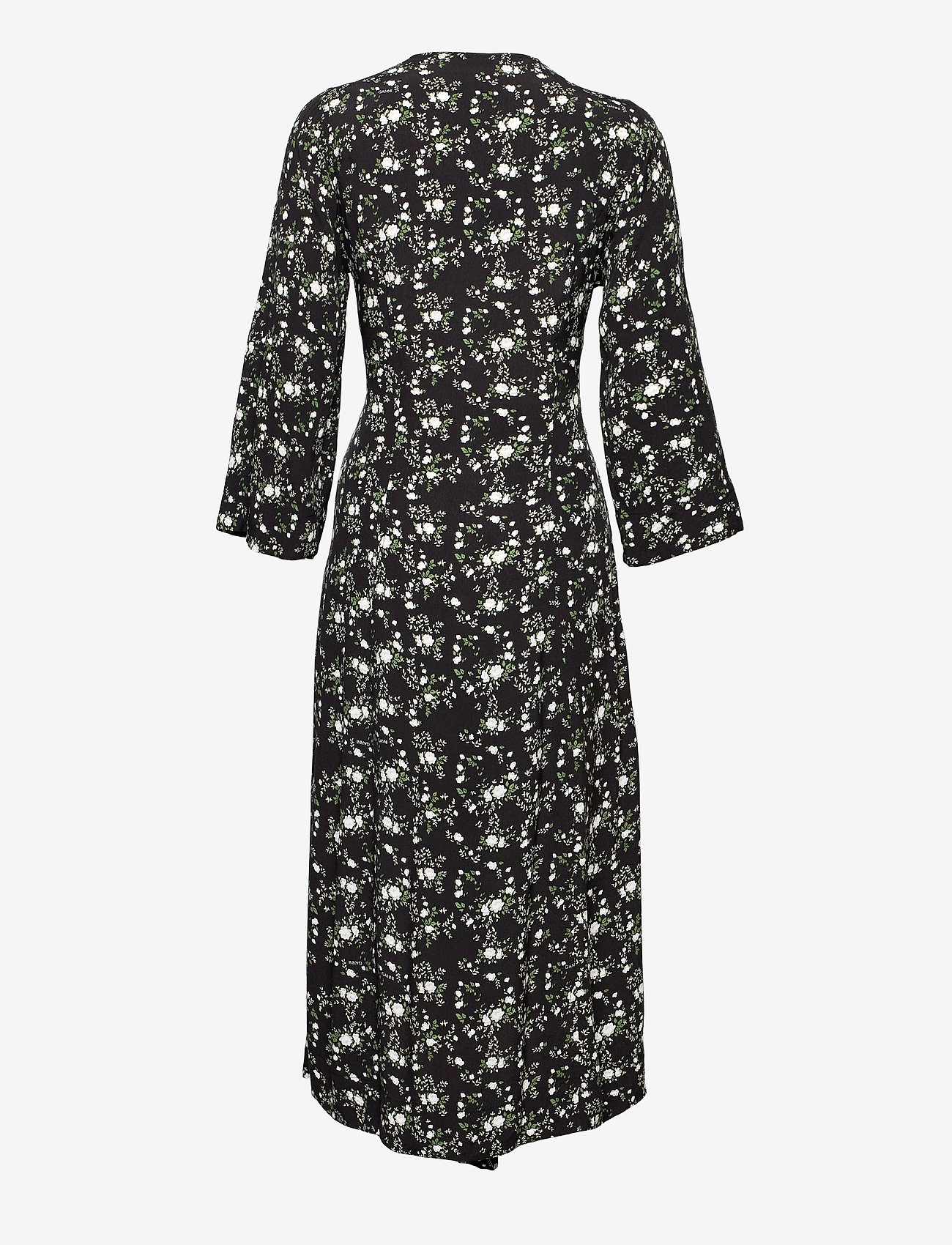 Ganni - Printed Crepe - summer dresses - phantom - 1