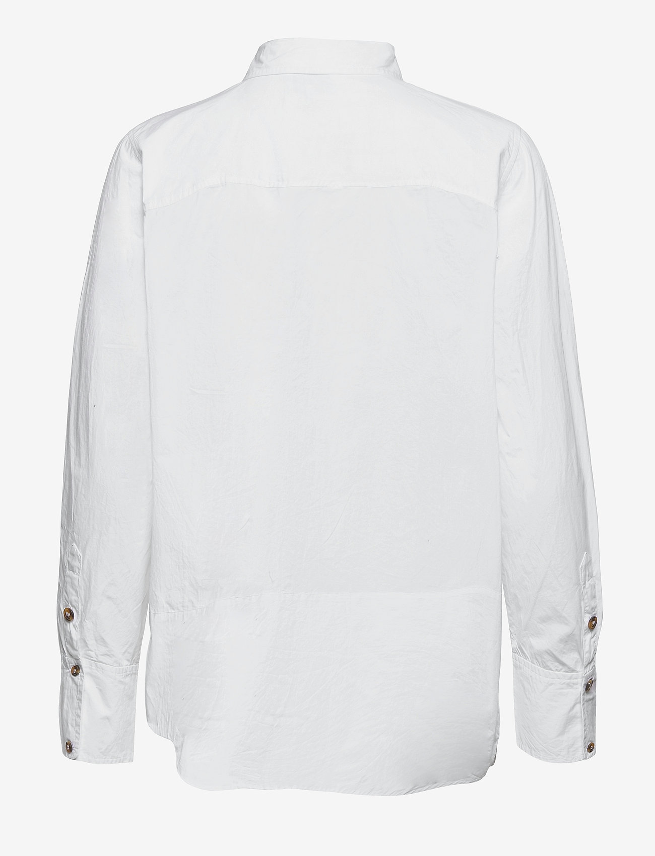 Ganni - Cotton Poplin - langærmede skjorter - bright white - 1