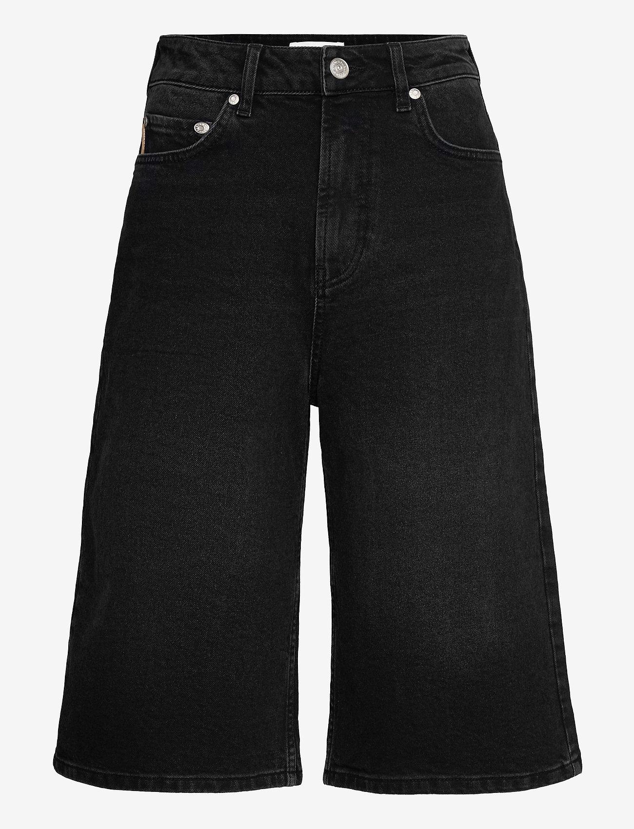 Ganni - Comfort Stretch - denimshorts - black - 0