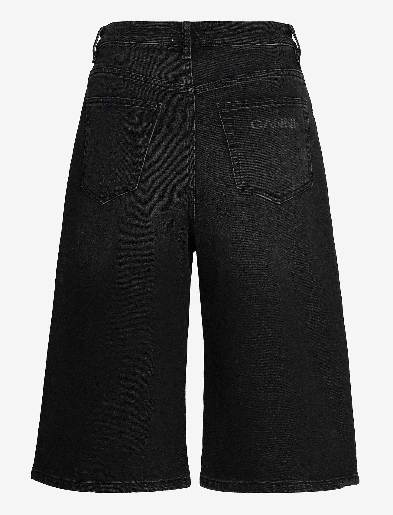 Ganni - Comfort Stretch - denimshorts - black - 1