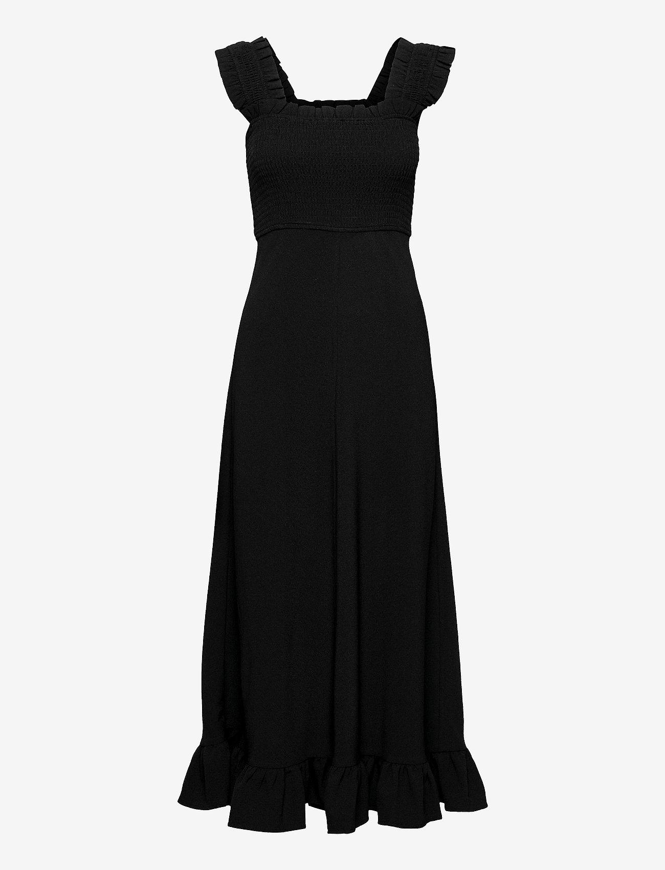 Ganni - Heavy Crepe - evening dresses - black - 0