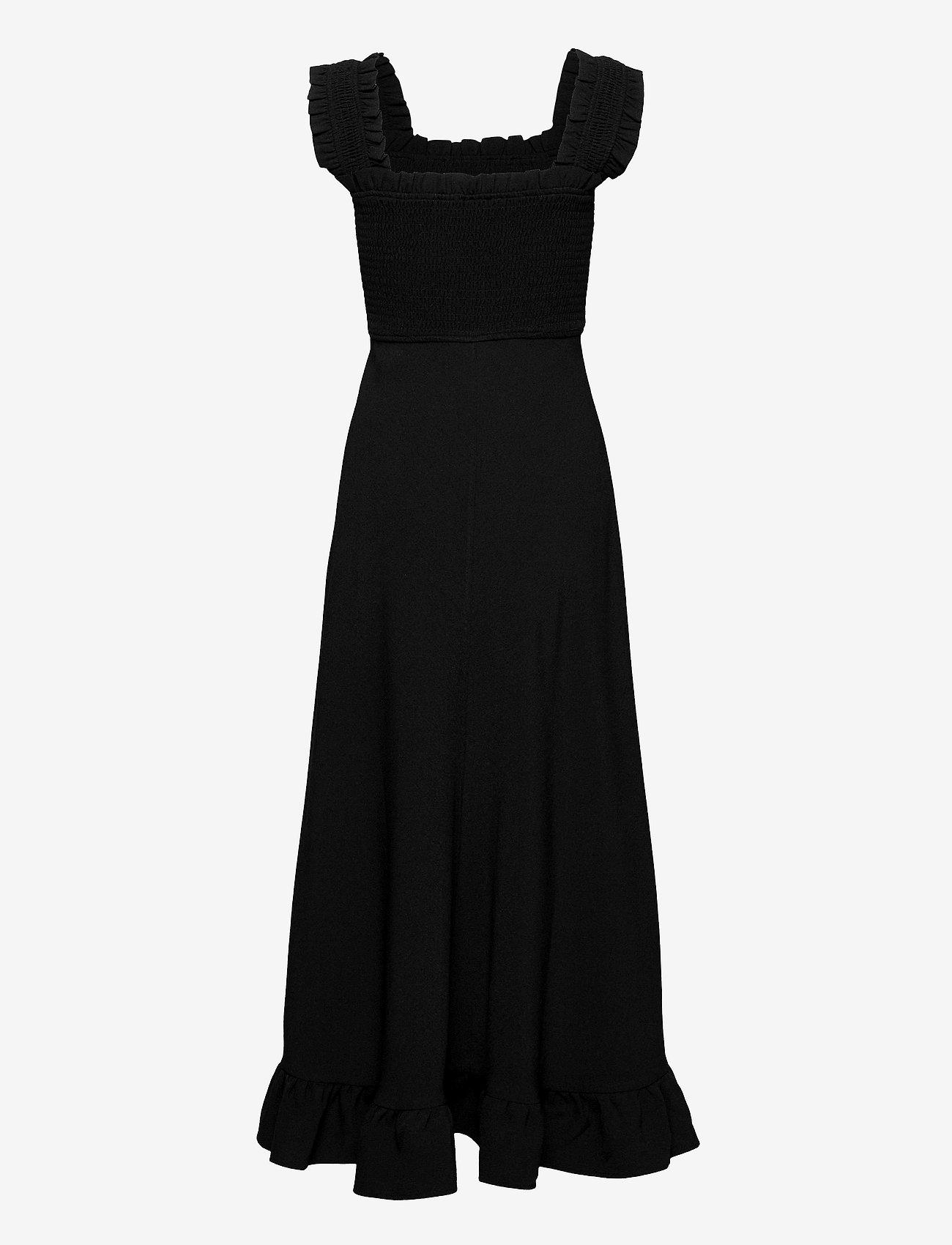 Ganni - Heavy Crepe - evening dresses - black - 1