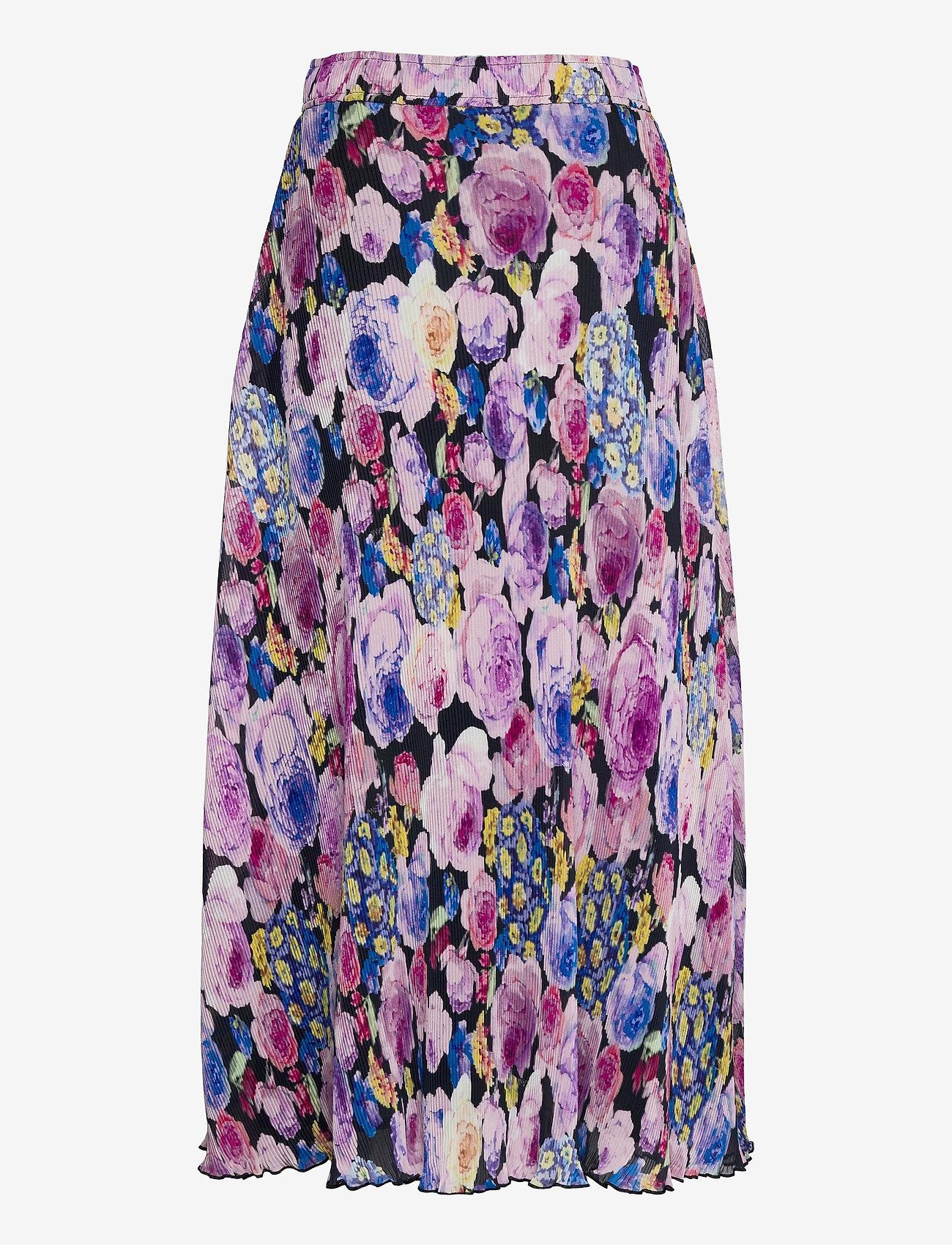 Ganni - Pleated Georgette - midi skirts - multicolour - 1
