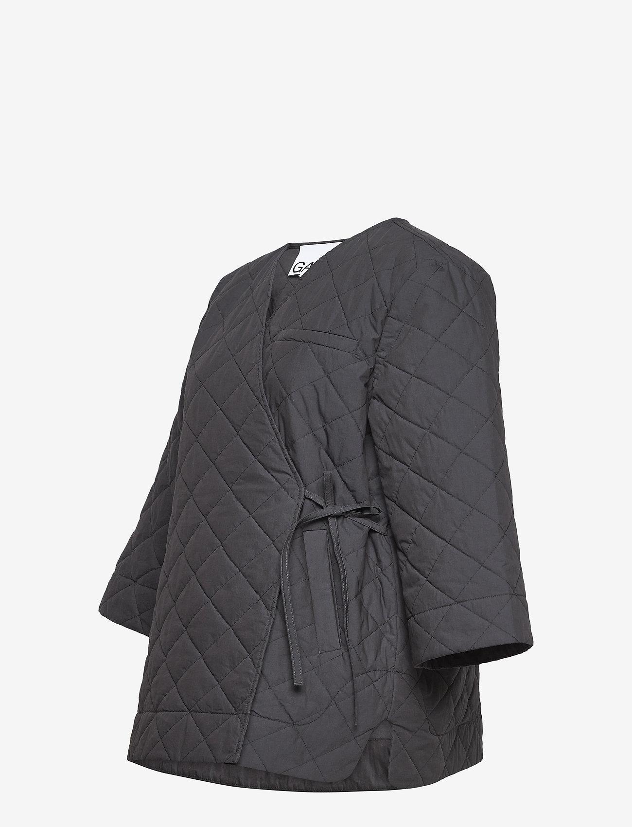Ganni - Stretch Canvas - quiltede jakker - phantom - 2