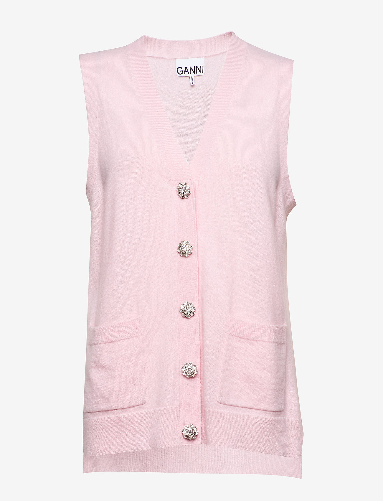 Ganni - Cashmere Knit - knitted vests - cherry blossom - 0
