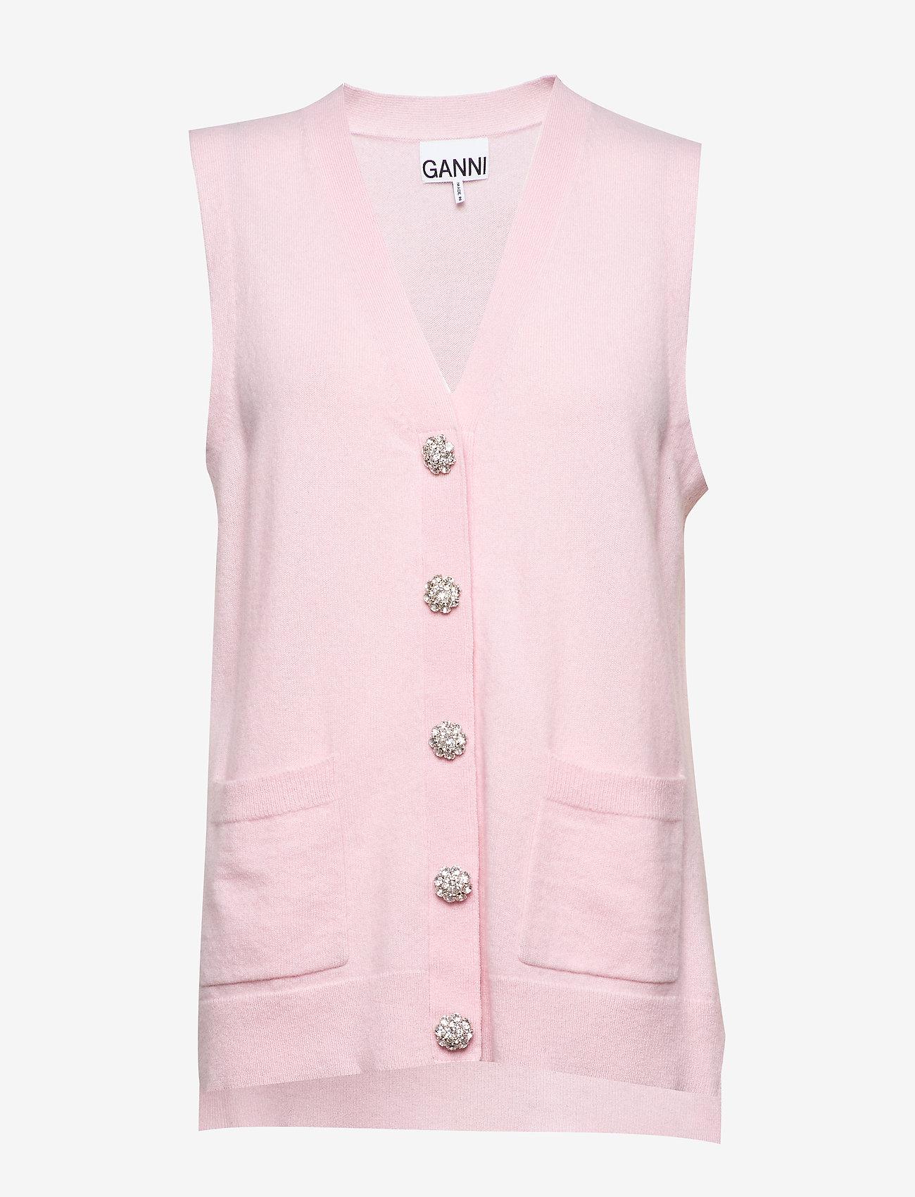 Ganni - Cashmere Knit - vester - cherry blossom - 0