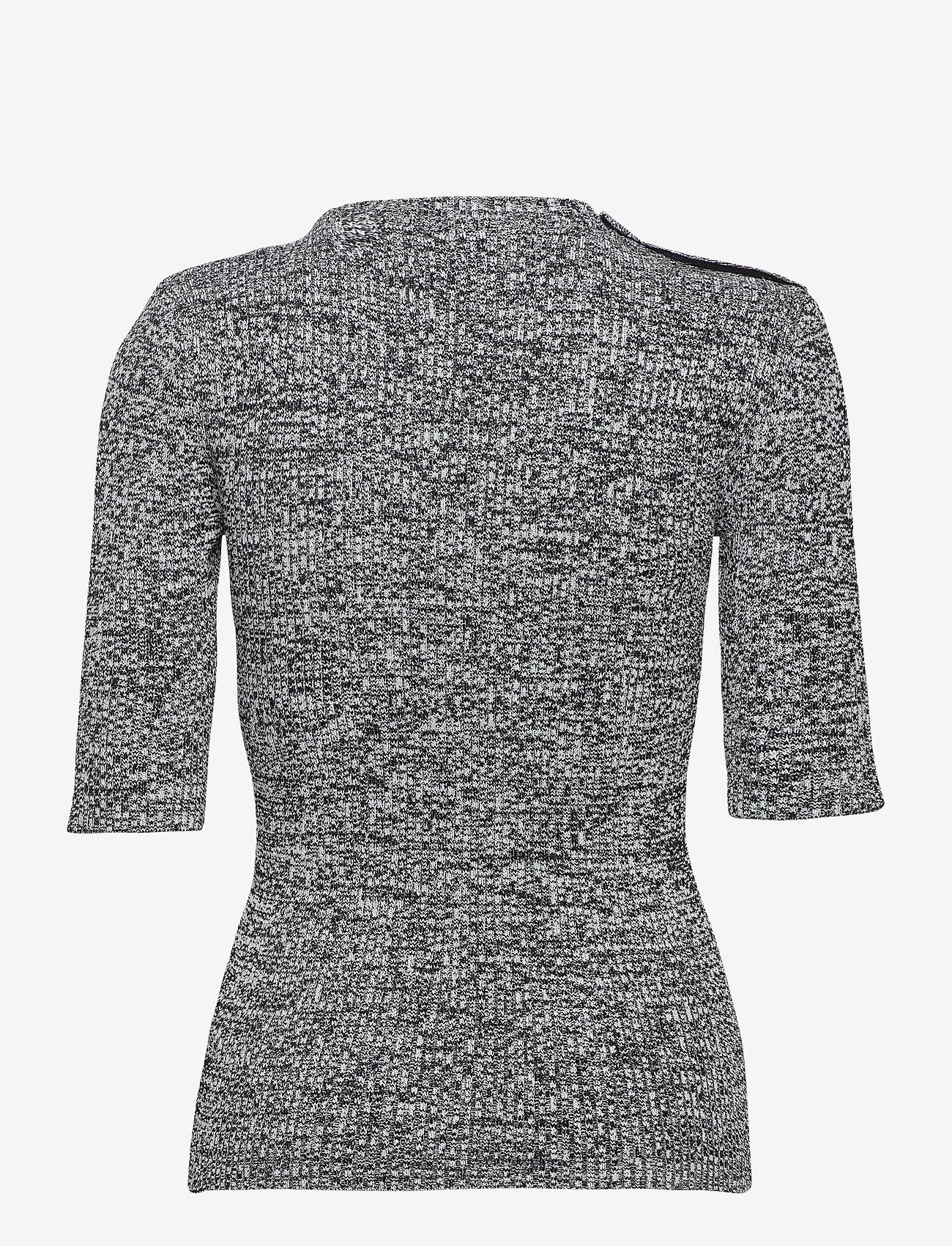 Ganni - Melange Knit - sweaters - black - 1