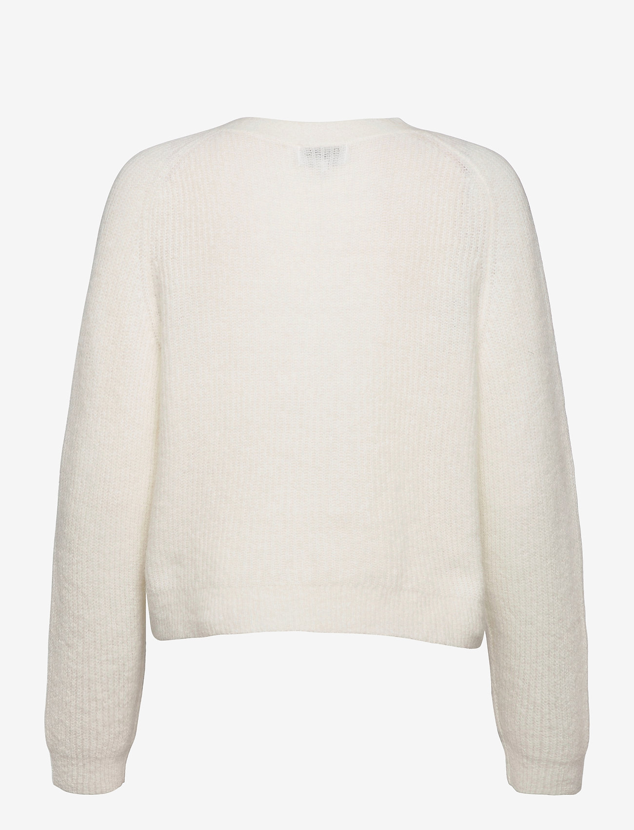 Ganni - Soft Wool Knit - cardigans - egret - 1