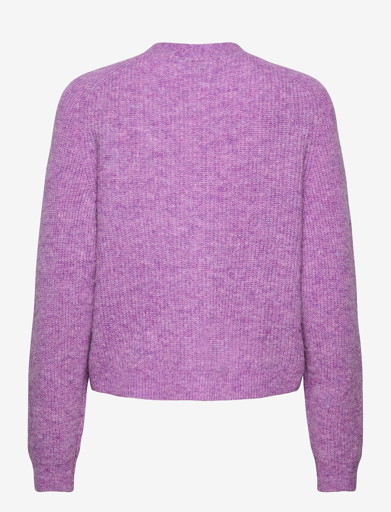 Ganni - Soft Wool Knit - cardigans - pastel lilac - 2