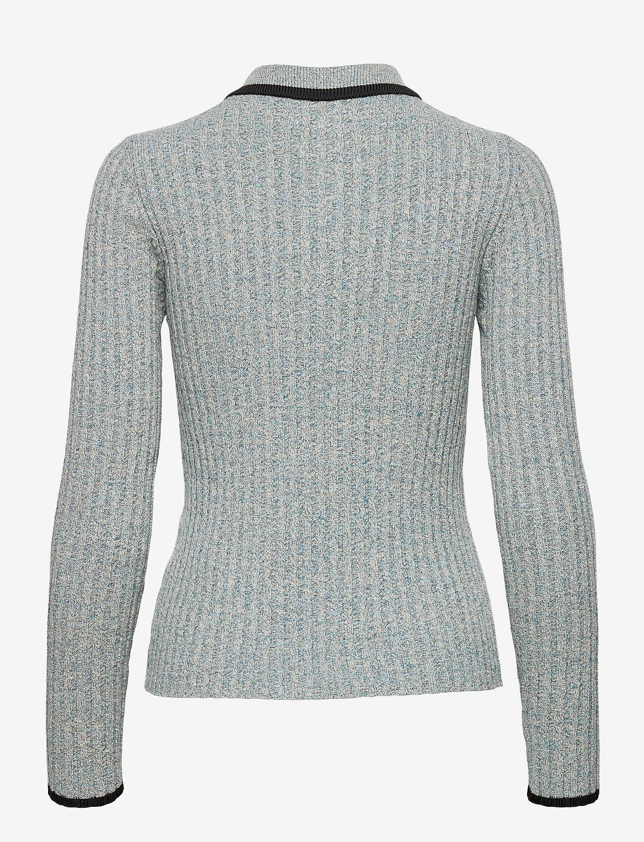 Ganni - Linen Knit - trøjer - bachelor blue - 1