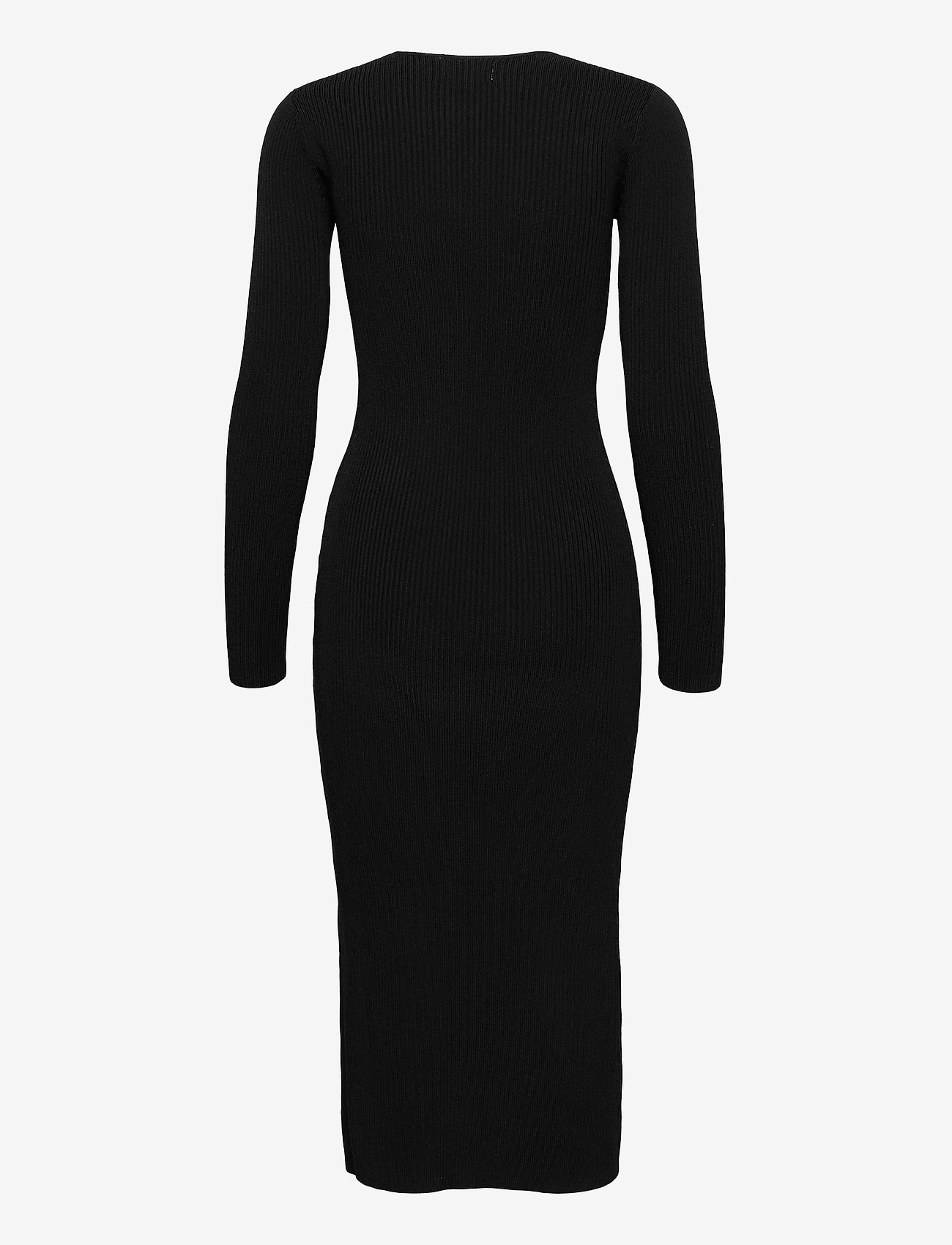 Ganni - Melange Knit - sommerkjoler - black - 1