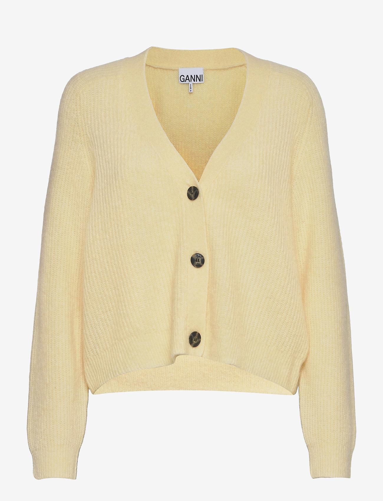 Ganni - Soft Wool Knit - cardigans - flan - 0