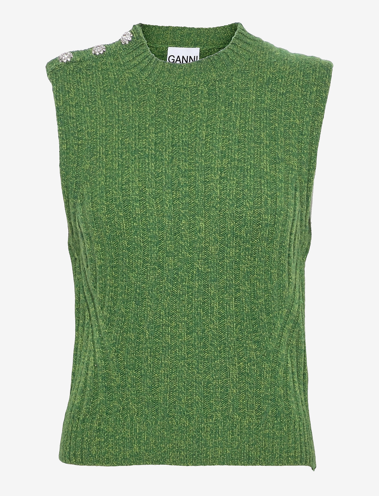 Ganni - Wool Mix - knitted vests - kelly green - 0