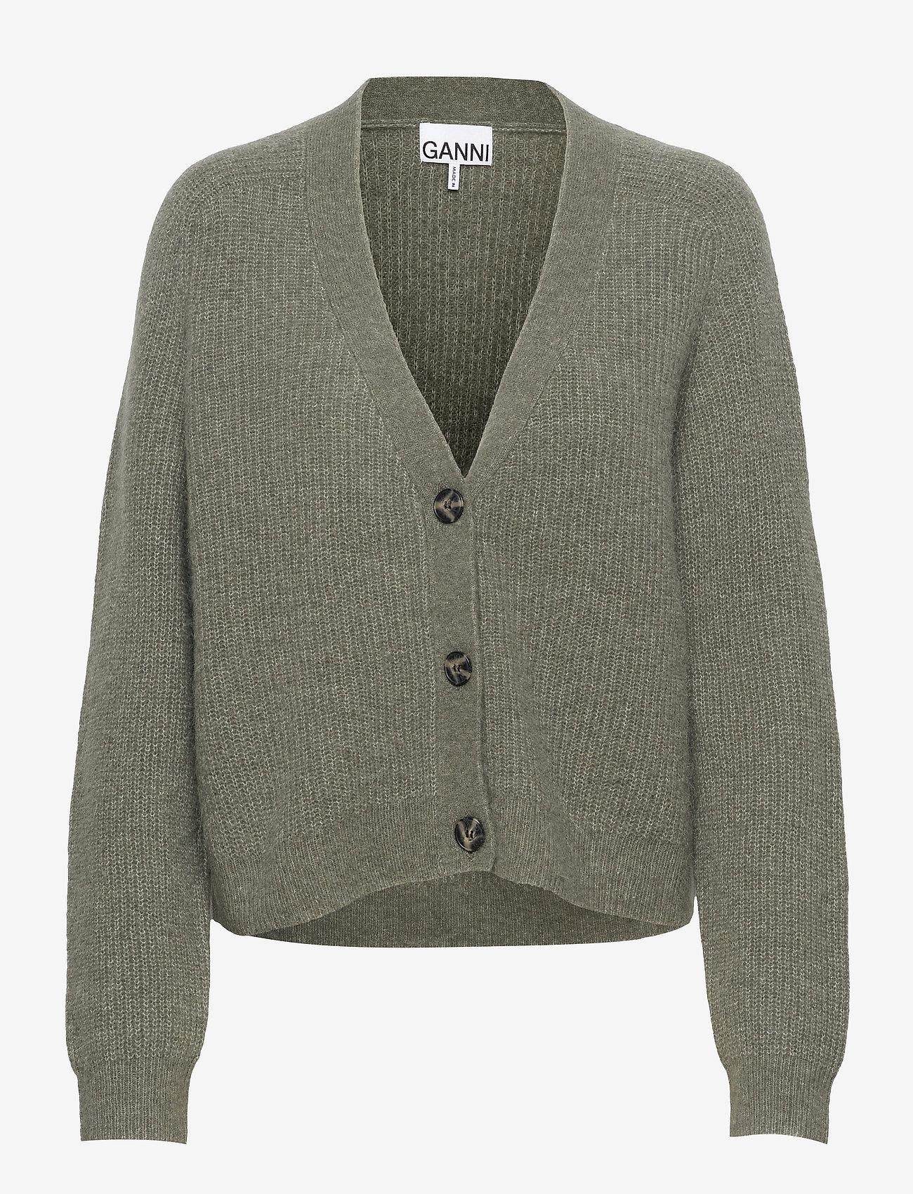 Ganni - Soft Wool Knit - cardigans - kalamata - 0