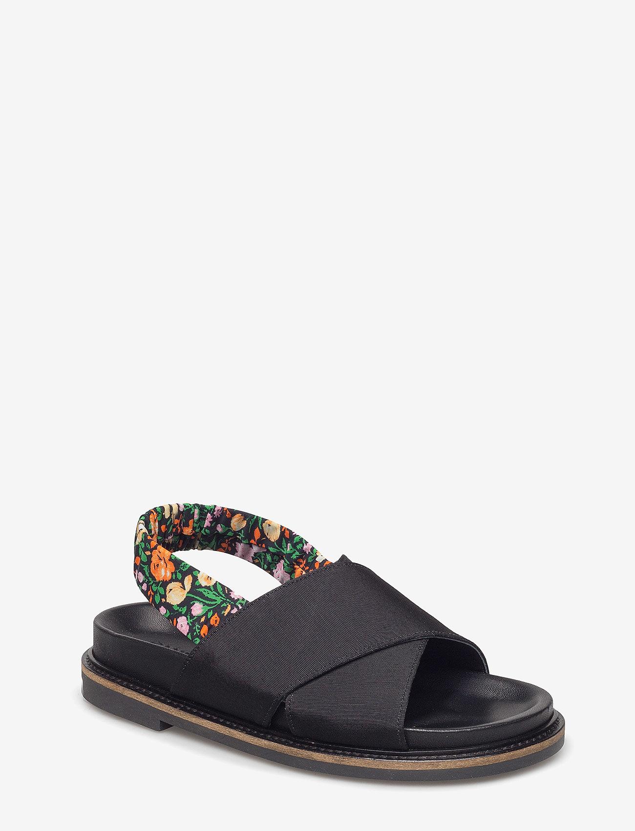 Ganni - Mona - płaskie sandały - black - 0