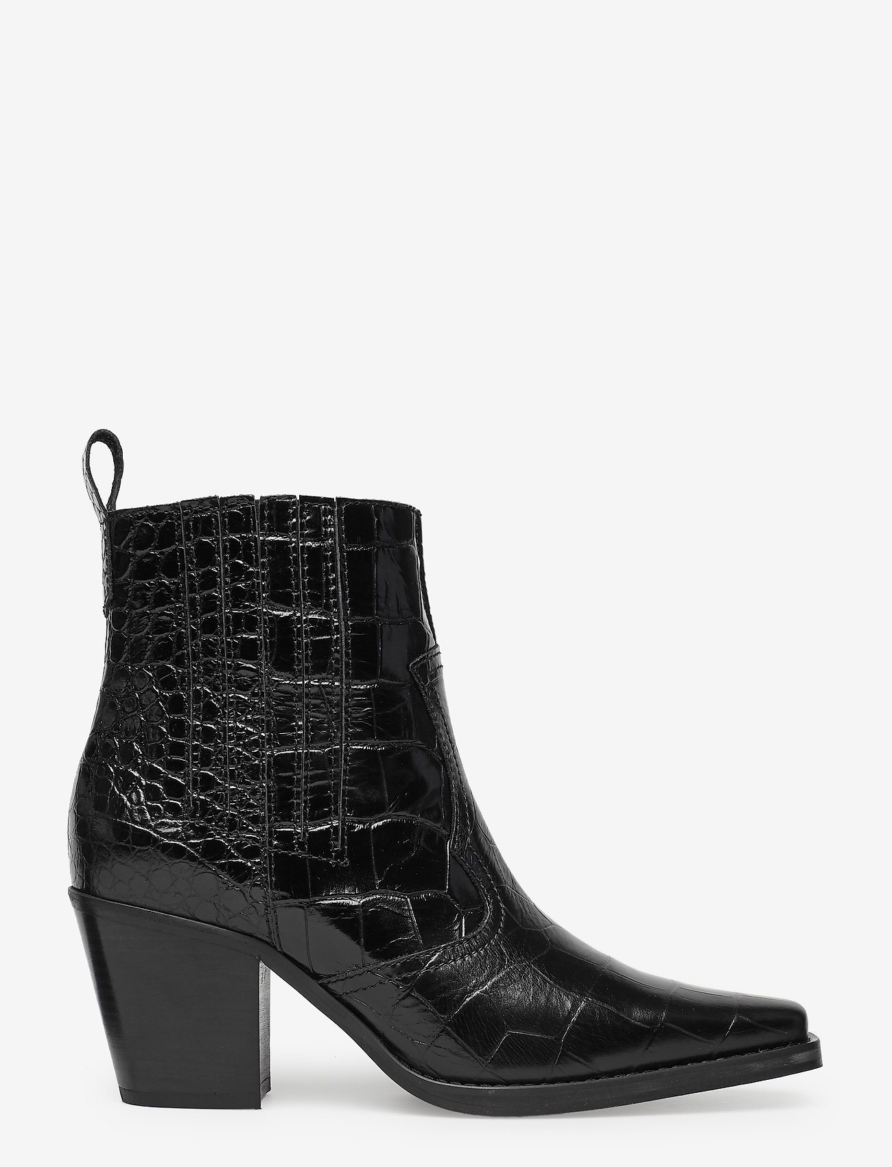 Ganni Western Ankle Boots - Bottes