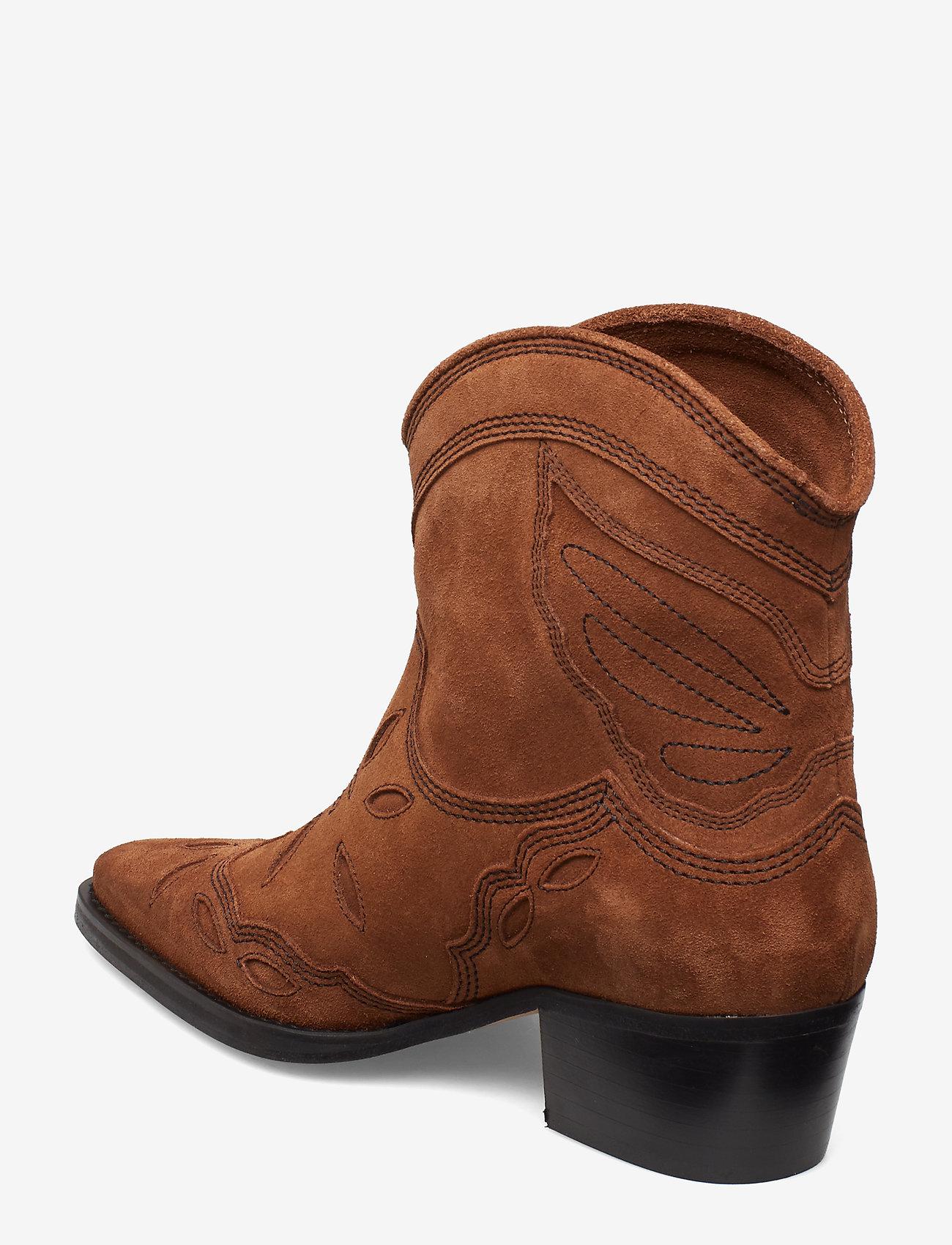 Ganni - Low Texas - wysoki obcas - tapioca - 2