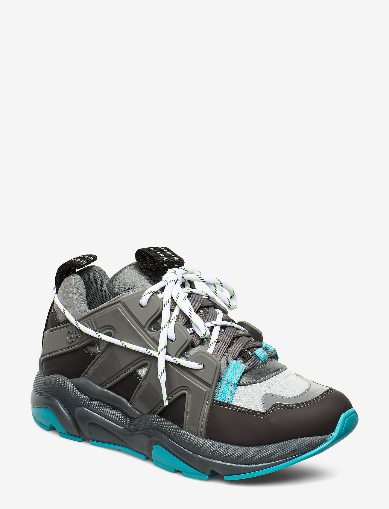 Ganni - Tech Sneakers - chunky sneakers - charcoal grey - 0