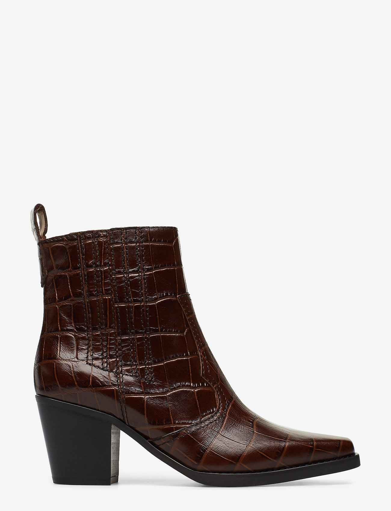 Ganni - Western Ankle Boots - wysoki obcas - chicory coffee - 1