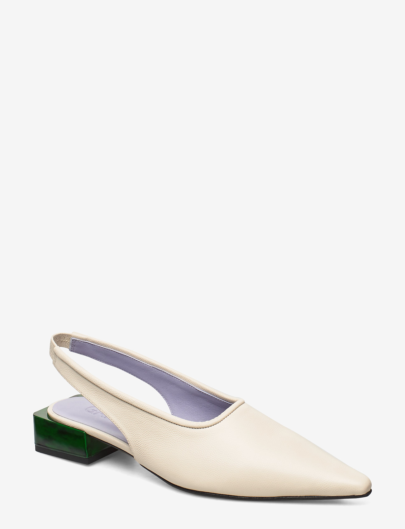 Ganni - Low Heel - sling backs - egret - 0