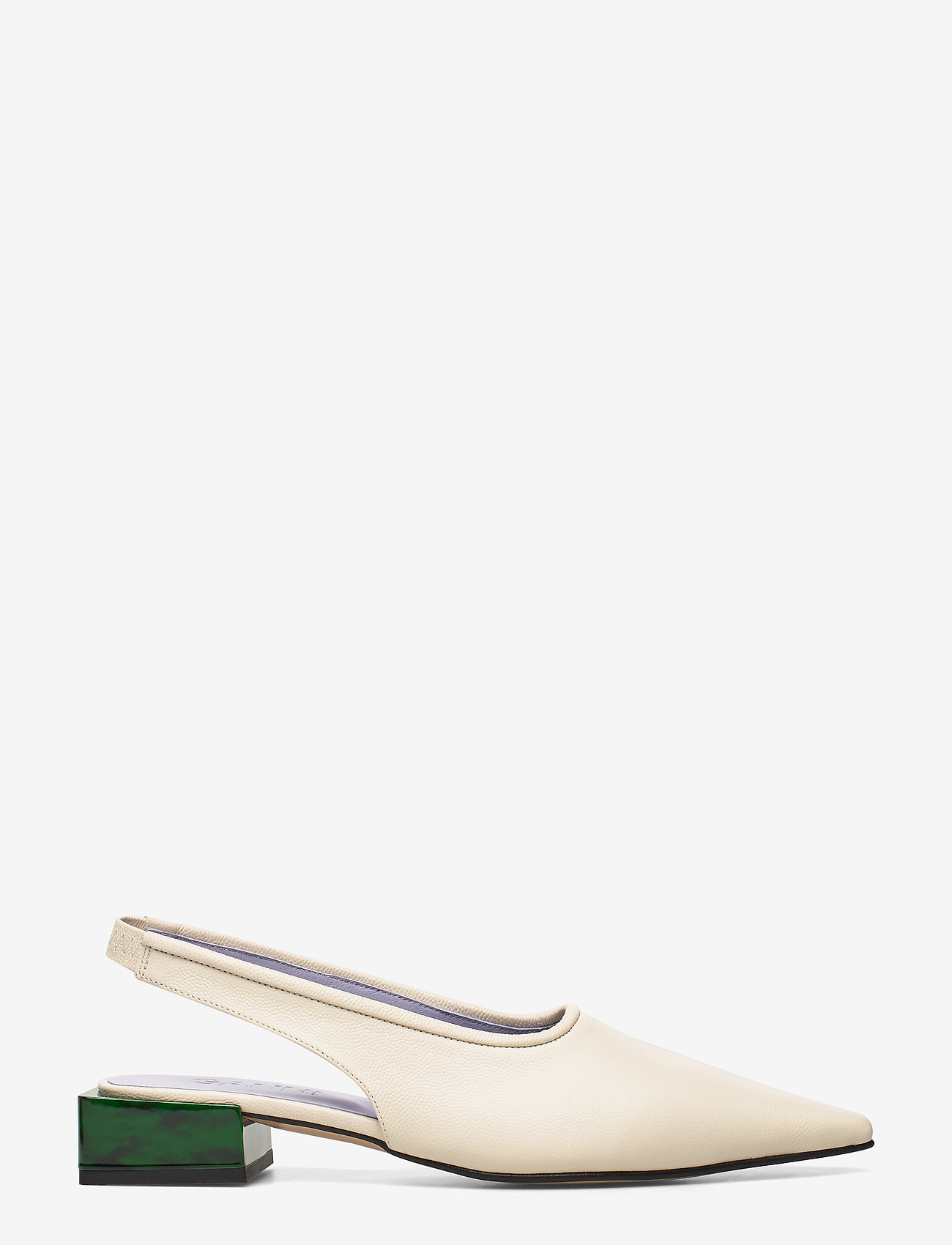 Ganni - Low Heel - sling backs - egret - 1