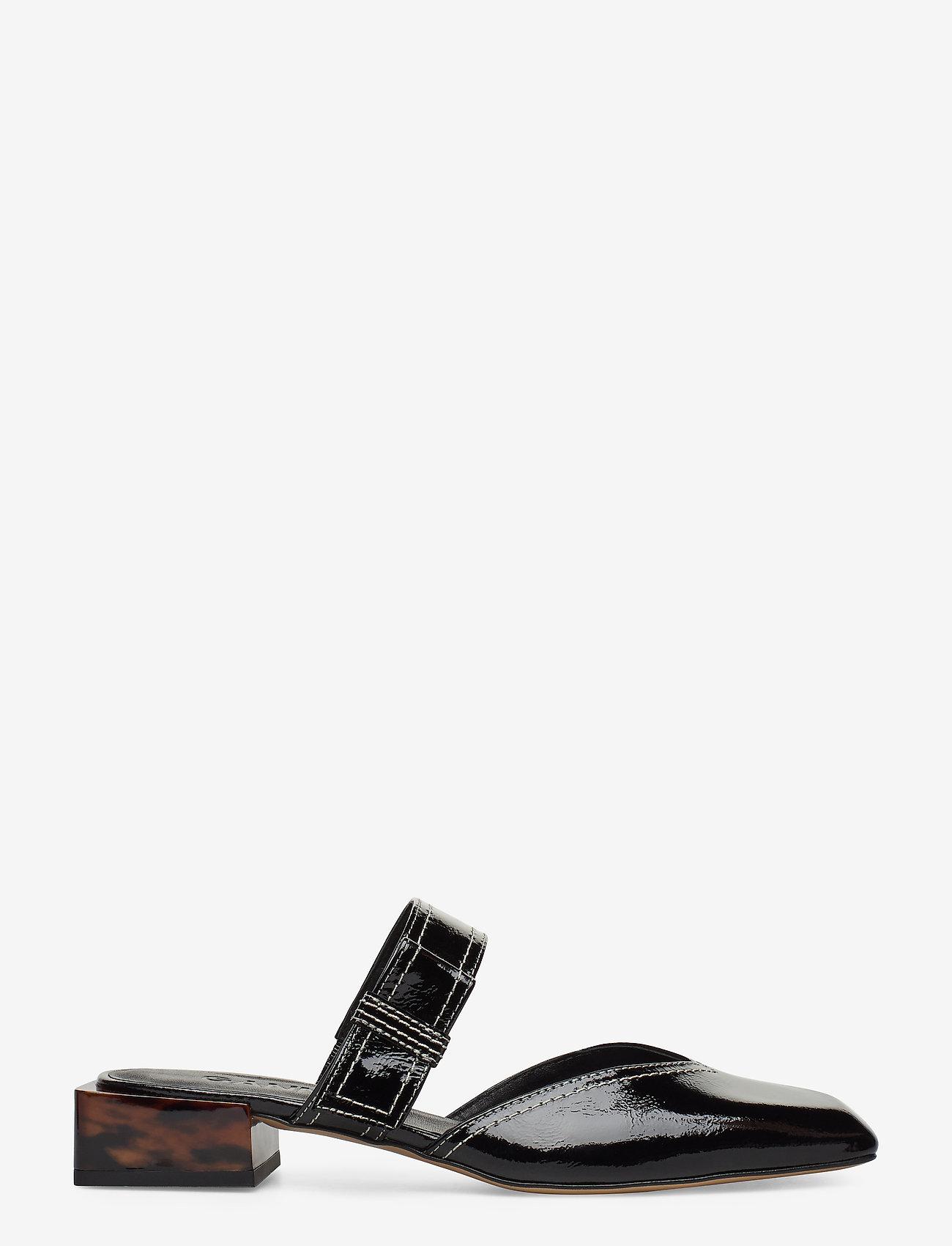 Ganni - Strappy Flats - mules & slipins - black - 1