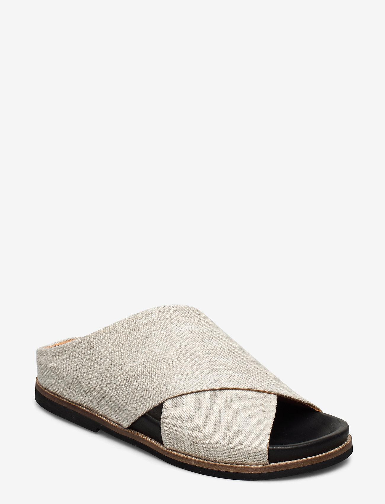 Ganni - Flat Sandals - płaskie sandały - nature - 0