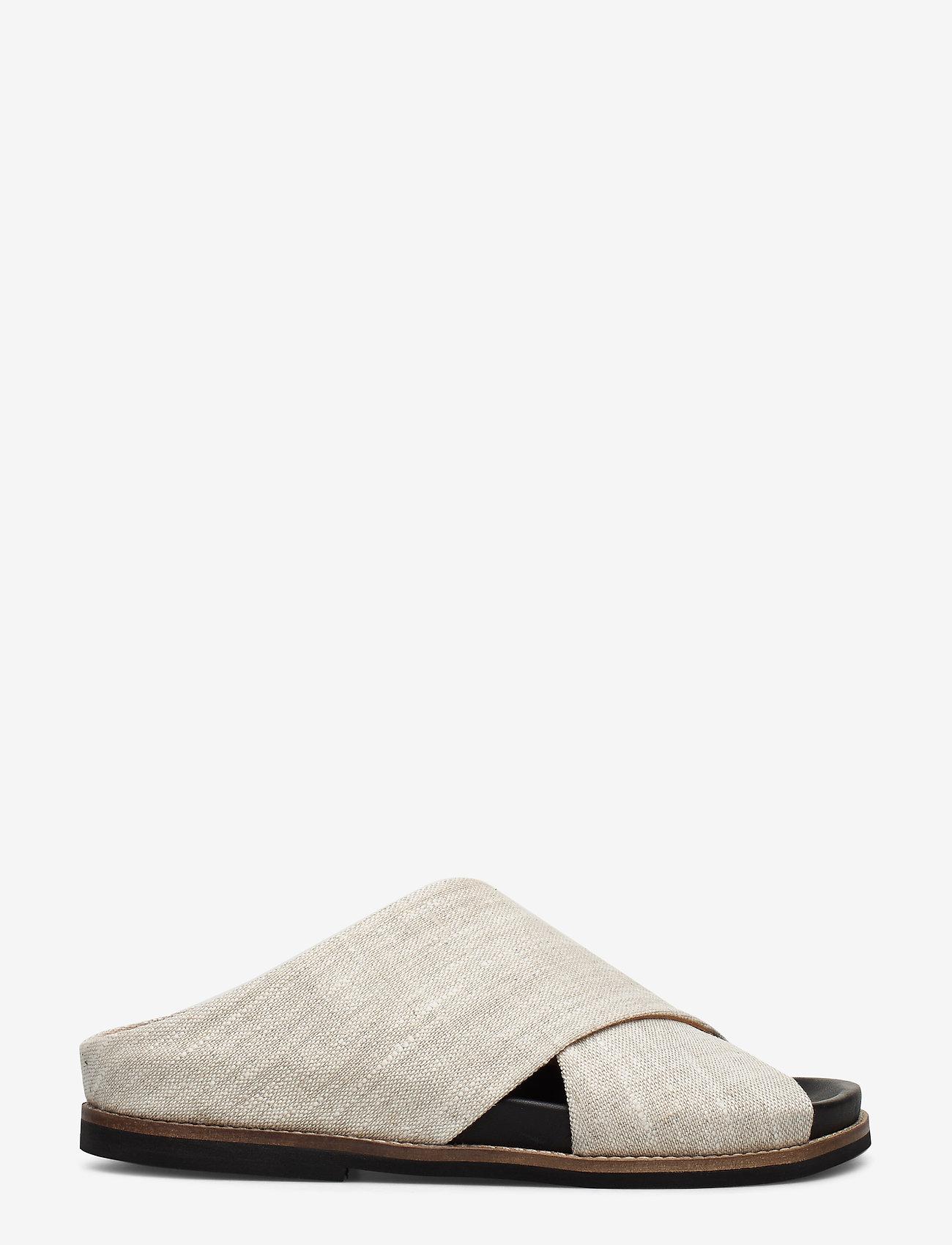 Ganni - Flat Sandals - płaskie sandały - nature - 1