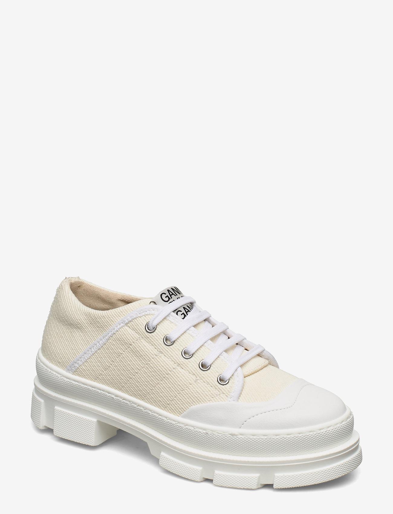 Ganni - Hybrid Sneakers - sneakersy niskie - egret - 0