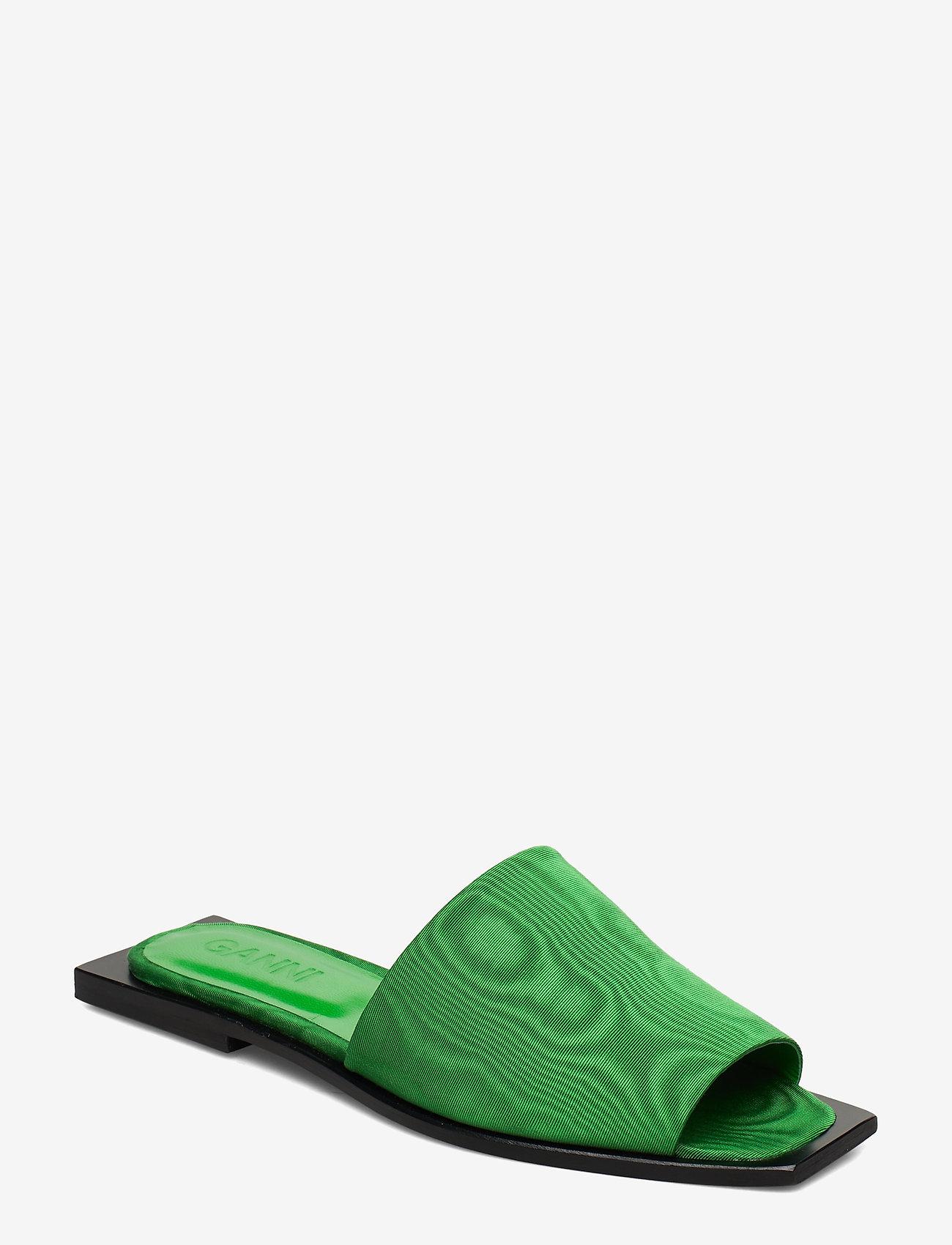 Ganni - Slipper Sandals - płaskie sandały - island green - 0